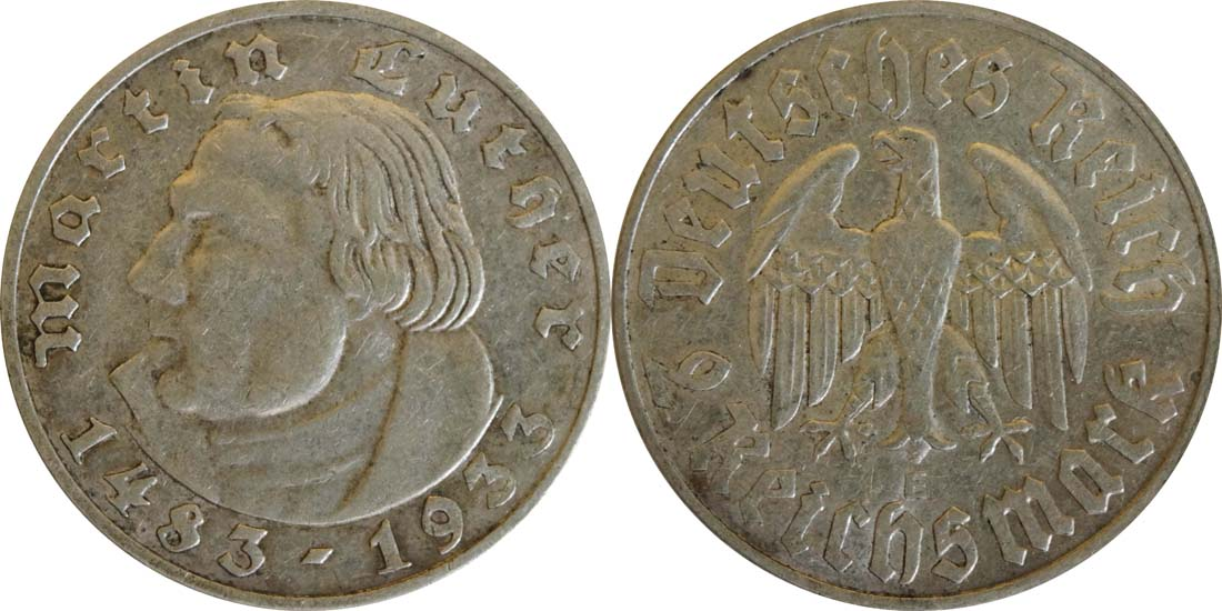 Bild des Lieferumfangs :Deutschland - 2 Reichsmark Luther  1933 ss/vz.