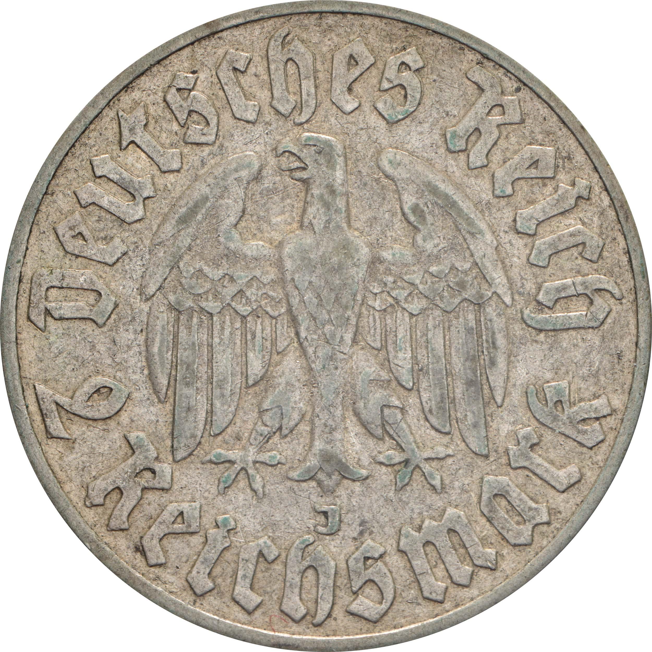 Rückseite:Deutschland : 2 Reichsmark Luther  1933 ss.