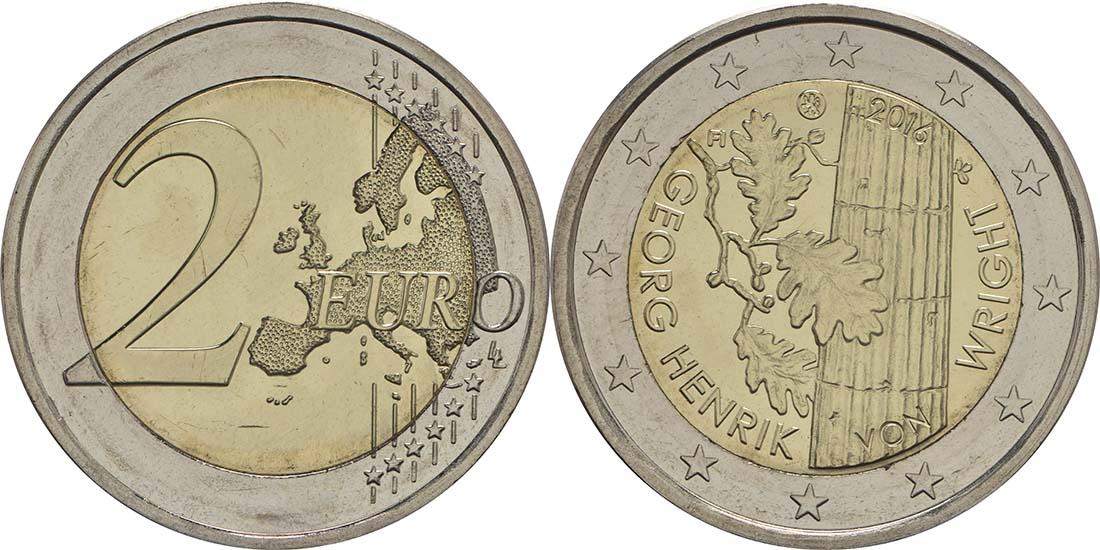Lieferumfang:Finnland : 2 Euro Georg Henrik von Wright  2016 bfr