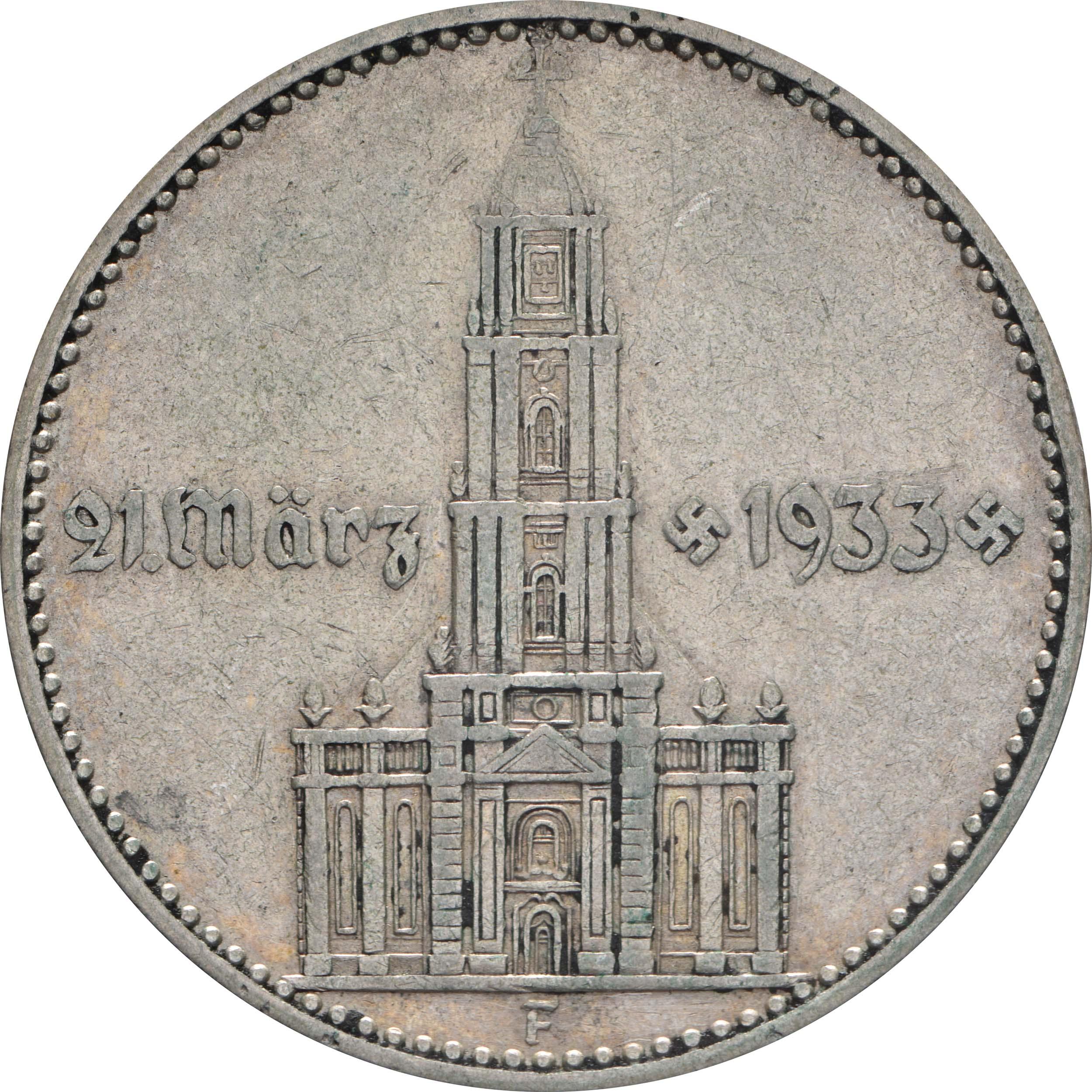 deutschland 2 reichsmark kirche mit datum 1934 f silber ss euro. Black Bedroom Furniture Sets. Home Design Ideas