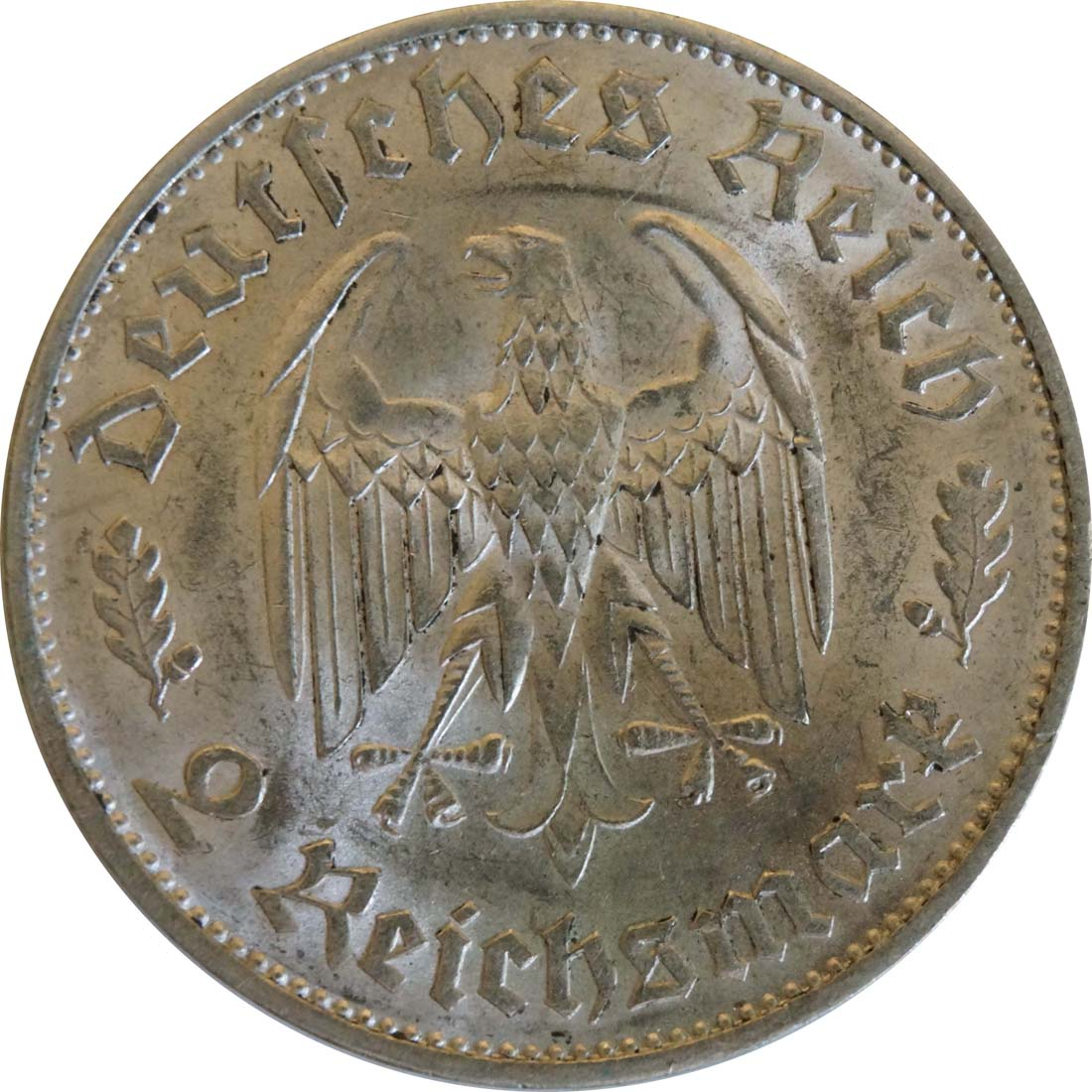Rückseite:Deutschland : 2 Reichsmark Schiller  1934 vz/Stgl.