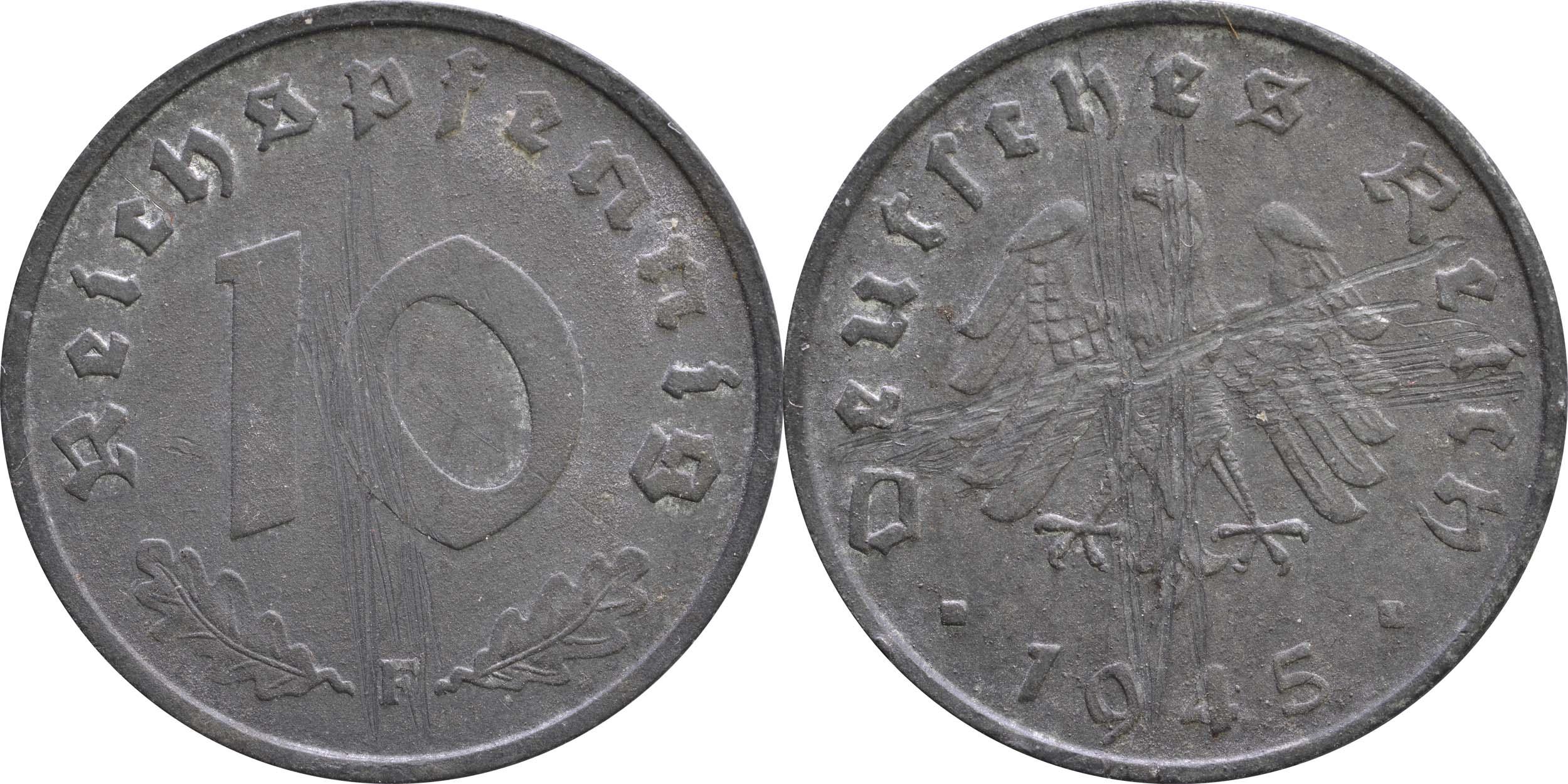 Deutschland : 10 Reichspfennig Alliierte Besetzung  1945 ss.