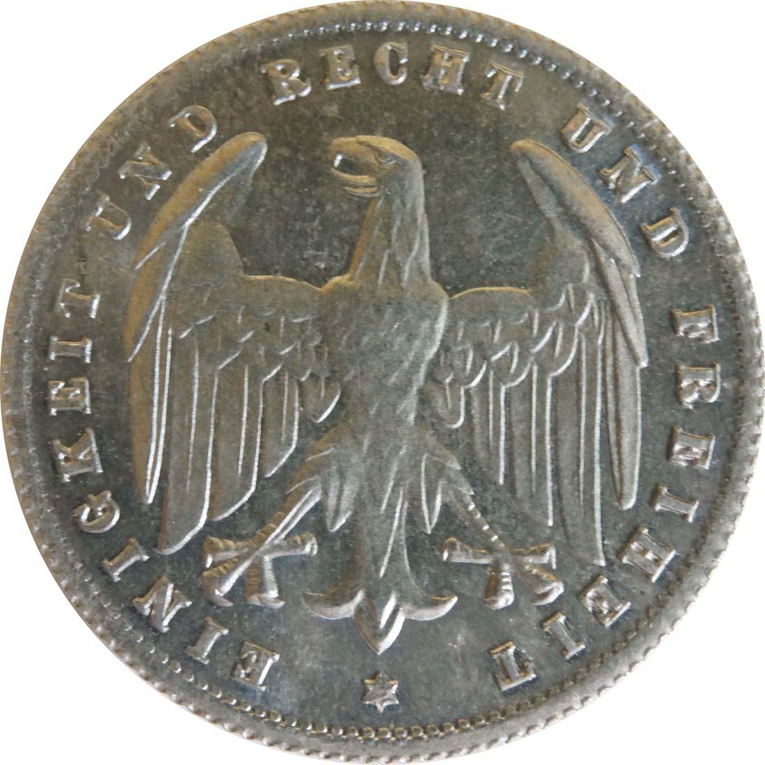 Rückseite :Deutschland : 500 Mark Kursmünze -selten- 1923 Stgl.