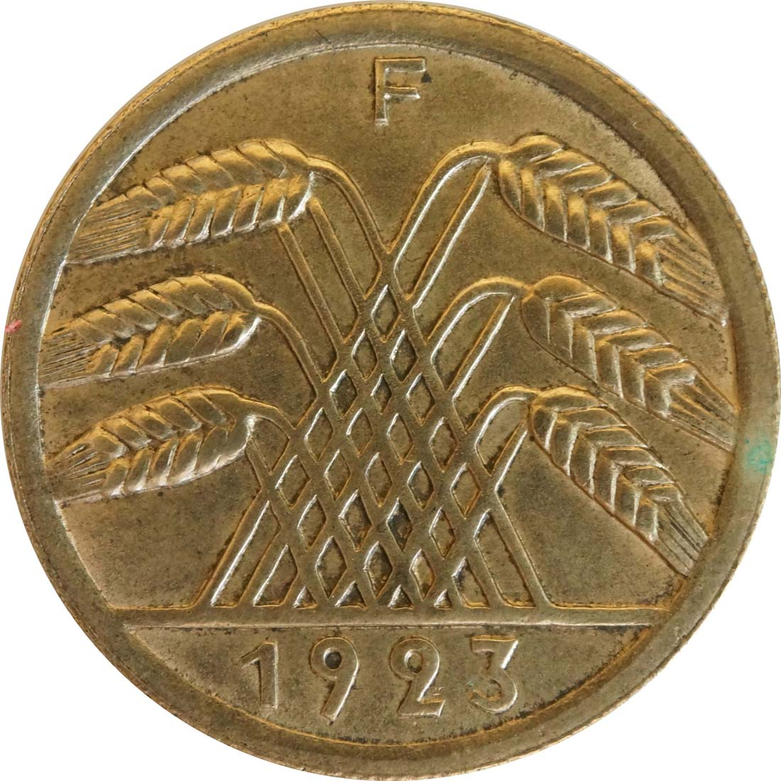 Rückseite :Deutschland : 50 Rentenpfennig Kursmünze  1923 vz/Stgl.