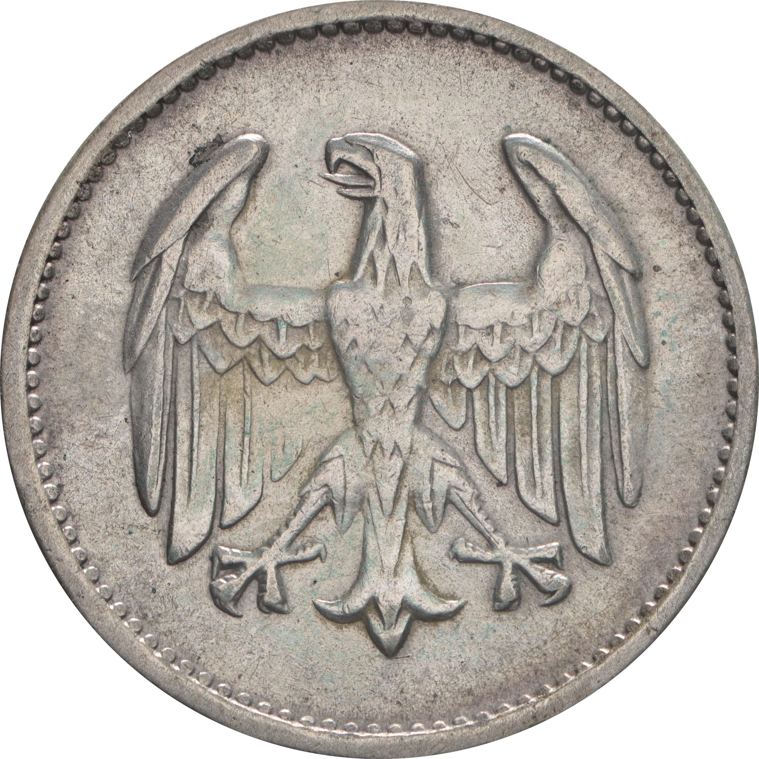Rückseite:Deutschland : 1 Mark Kursmünze  1924 ss/vz.