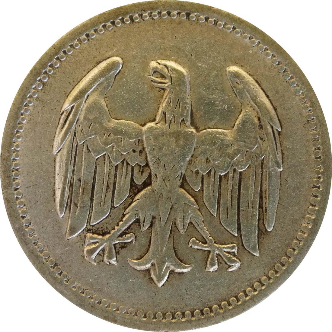Rückseite :Deutschland : 1 Mark Kursmünze  1925 f.ss