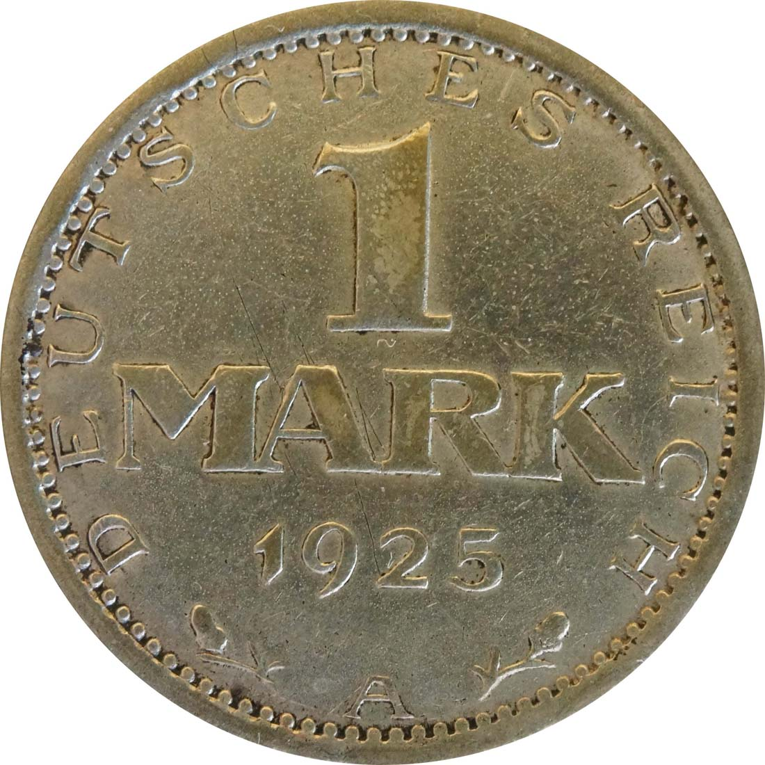 Vorderseite :Deutschland : 1 Mark Kursmünze  1925 f.ss