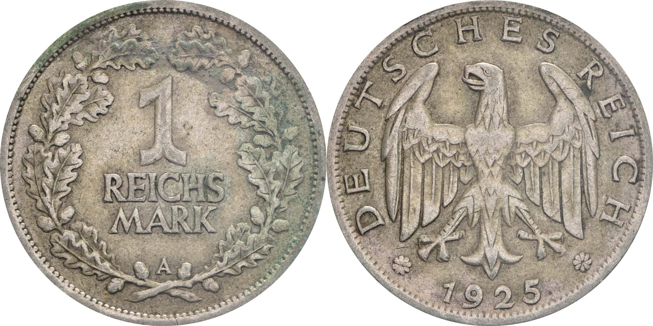 Deutschland : 1 Reichsmark Kursmünzen  1925 ss.