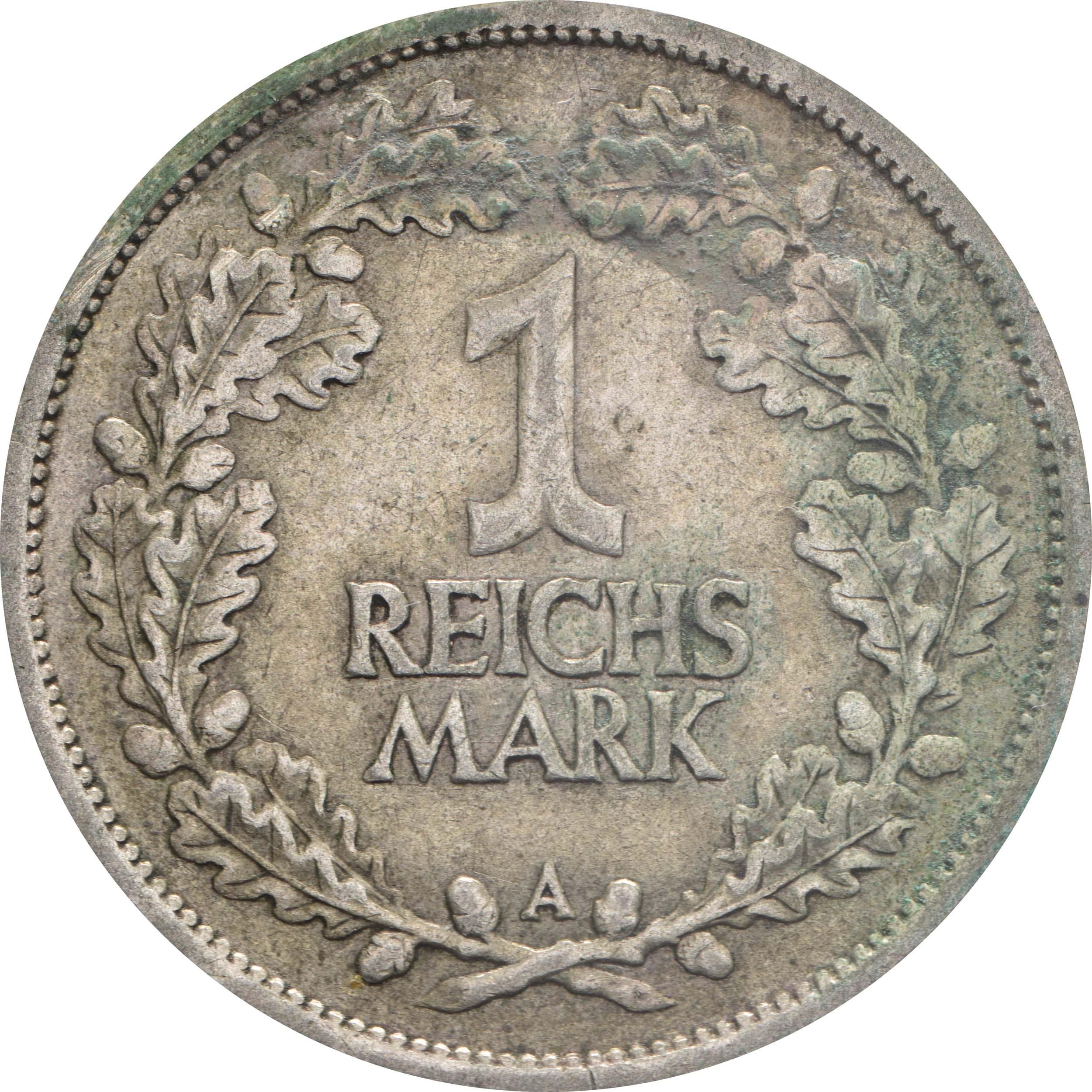 Vorderseite :Deutschland : 1 Reichsmark Kursmünzen  1925 ss.
