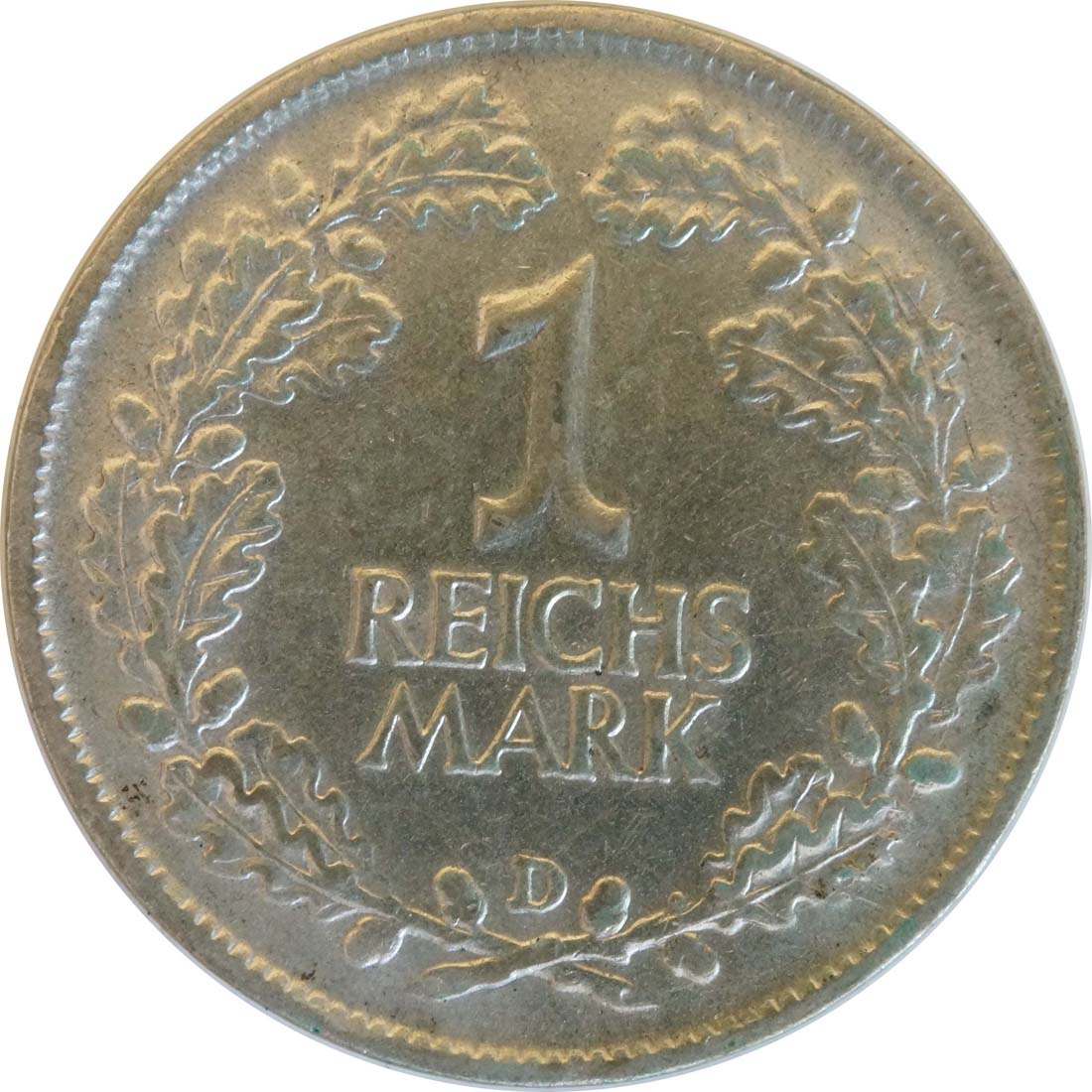Vorderseite :Deutschland : 1 Reichsmark Kursmünze  1925 vz.