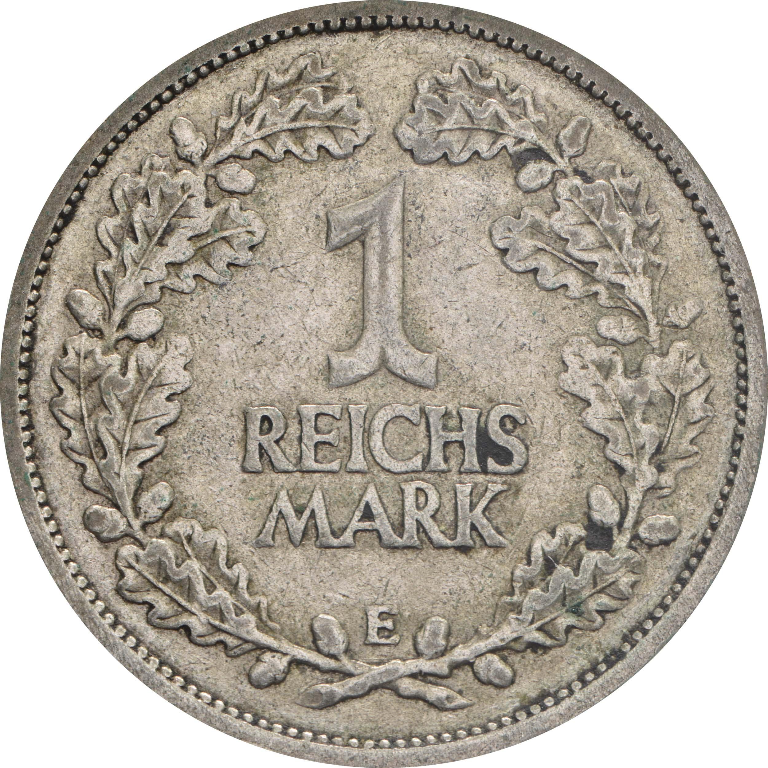 Vorderseite:Deutschland : 1 Reichsmark Kursmünze  1925 ss.