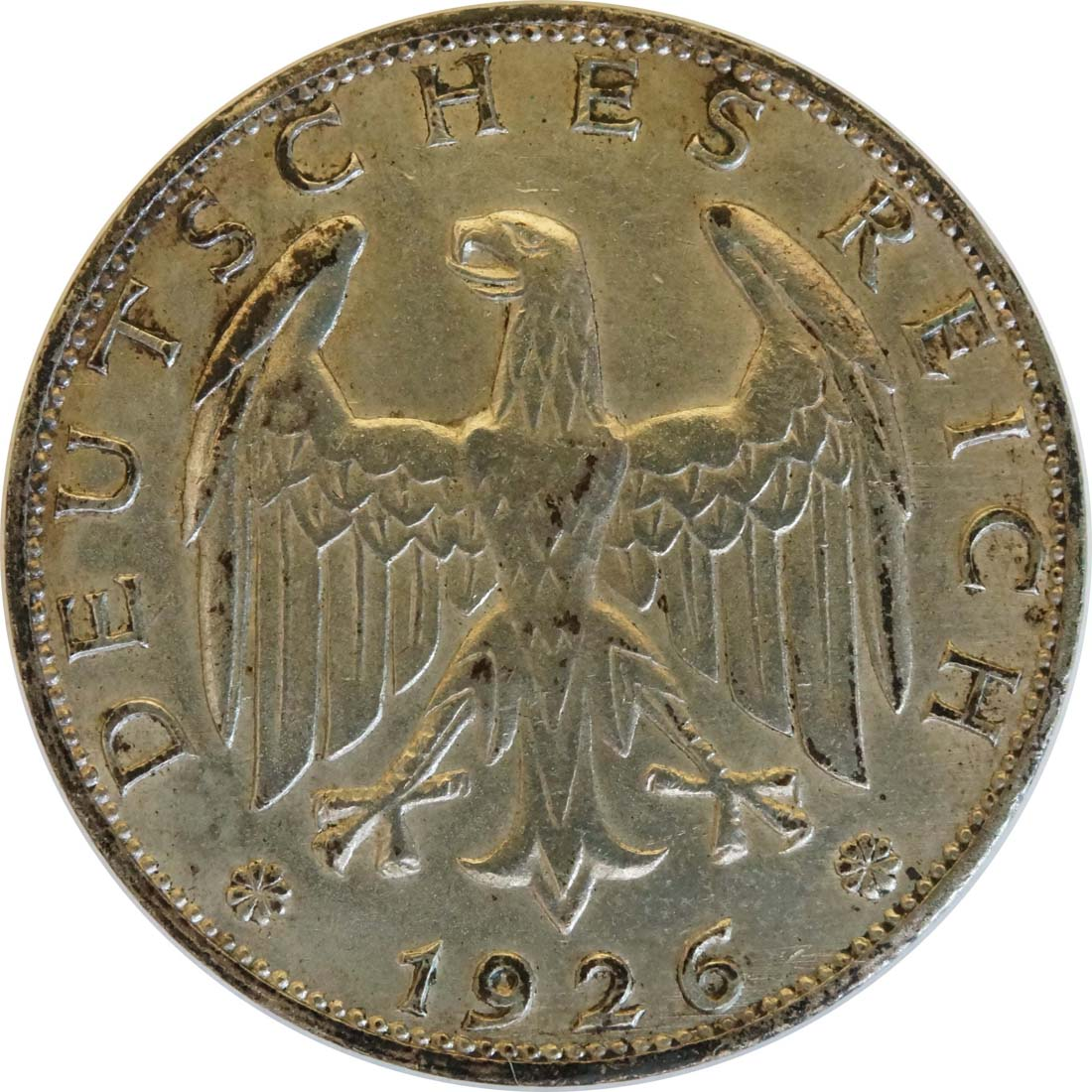 Rückseite :Deutschland : 1 Reichsmark Kursmünze  1926 ss.