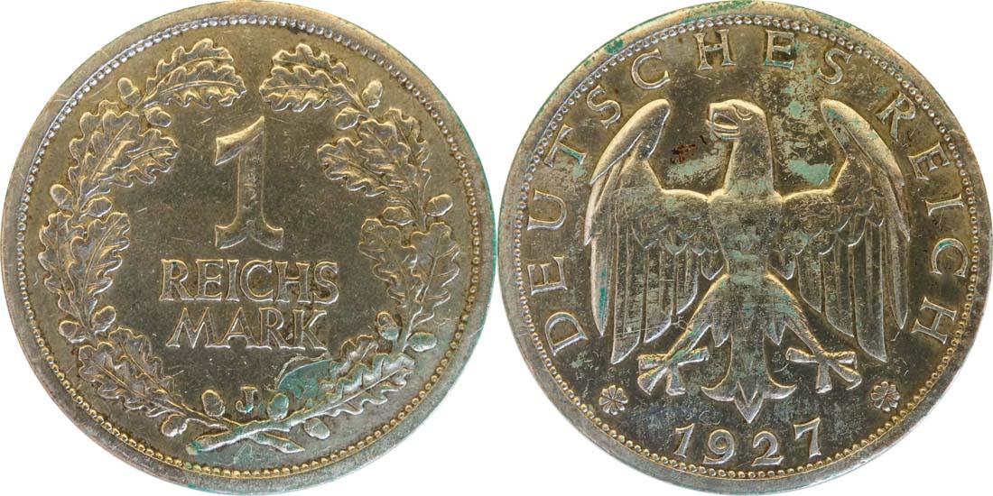 Übersicht:Deutschland : 1 Reichsmark Kursmünze  1927 ss.