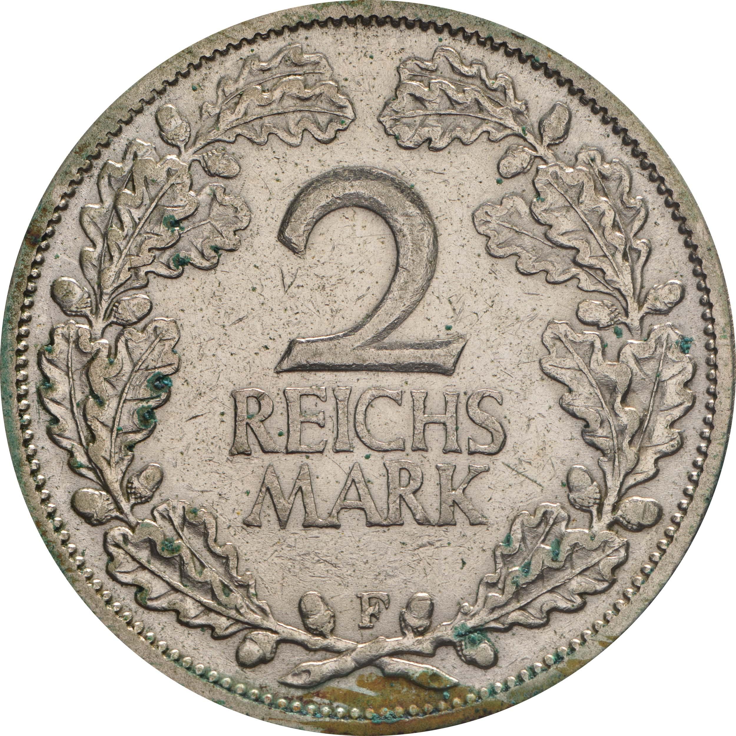 Vorderseite :Deutschland : 2 Reichsmark Kursmünze  1925 ss.