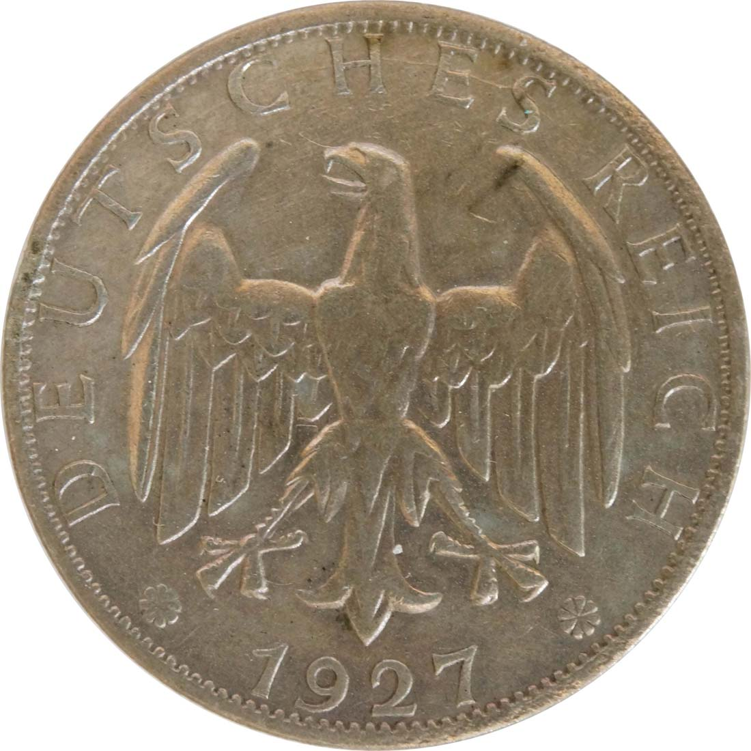 deutschland 2 reichsmark kursmuenze 1927 a silber ss euro. Black Bedroom Furniture Sets. Home Design Ideas