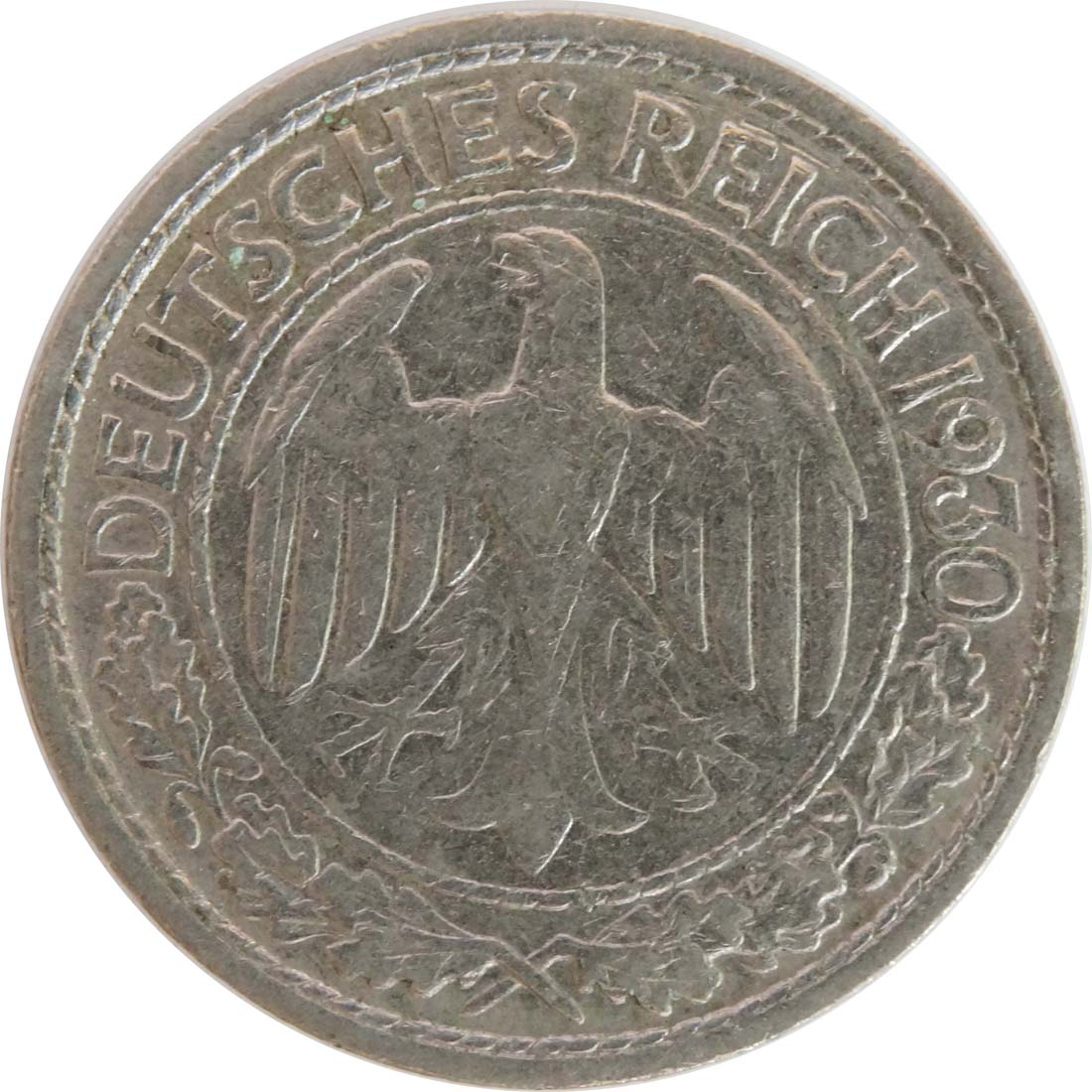 Rückseite :Deutschland : 50 Reichspfennig Kursmünze  1930 vz.
