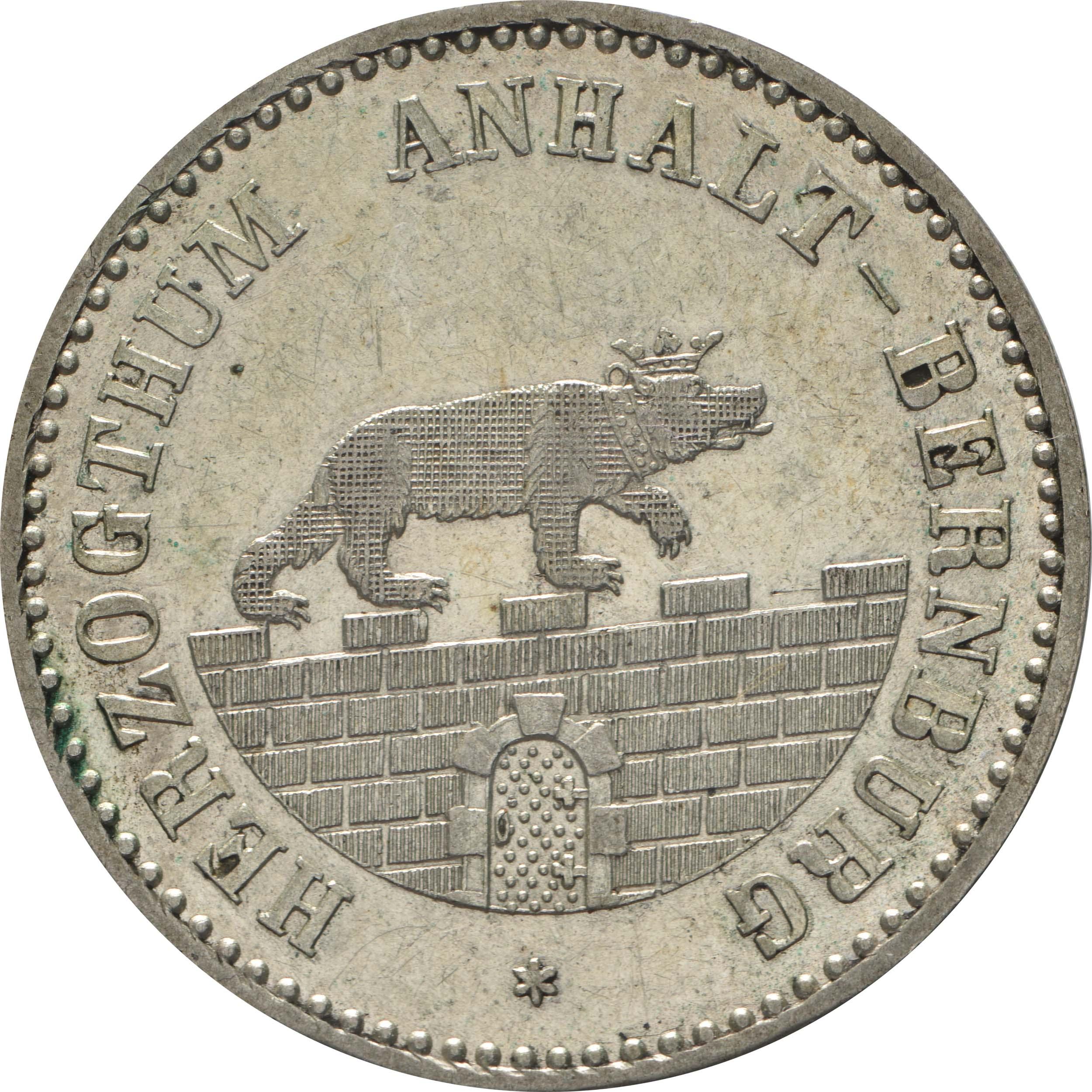 Vorderseite:Deutschland : 1/6 Taler   1856 vz/Stgl.