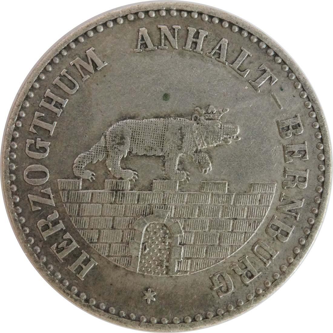 Rückseite :Deutschland : 1/6 Taler   1861 ss.