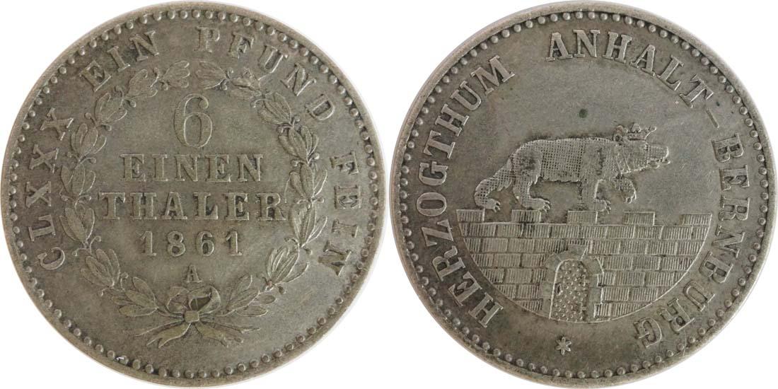 Deutschland : 1/6 Taler   1861 ss.