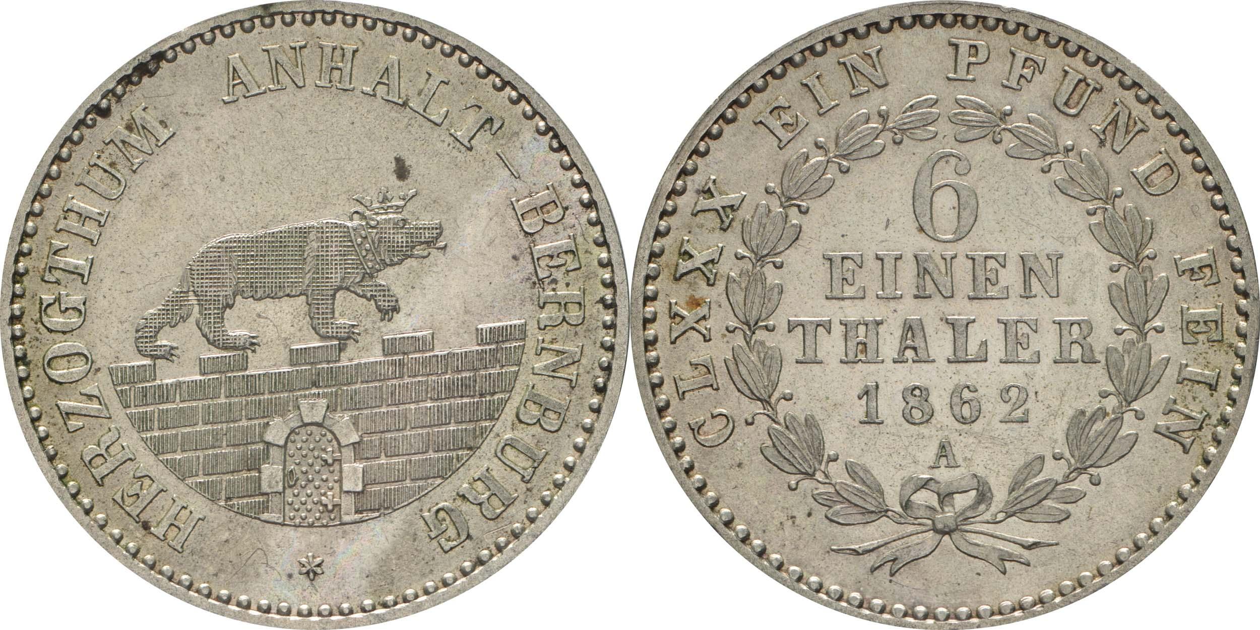Lieferumfang:Deutschland : 1/6 Taler  !Erhaltung! 1862 Stgl.