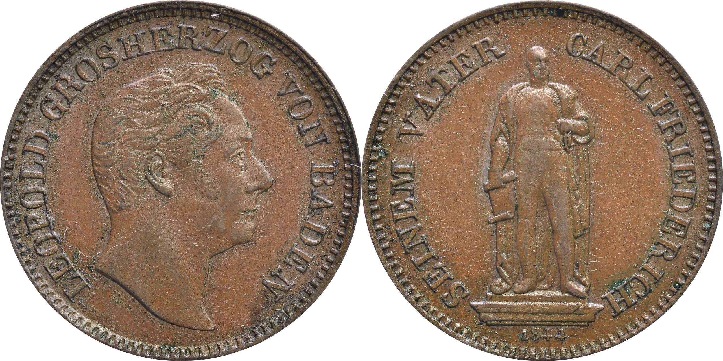 Übersicht:Deutschland :  Gedenkkreuzer Standbild  1844 vz.