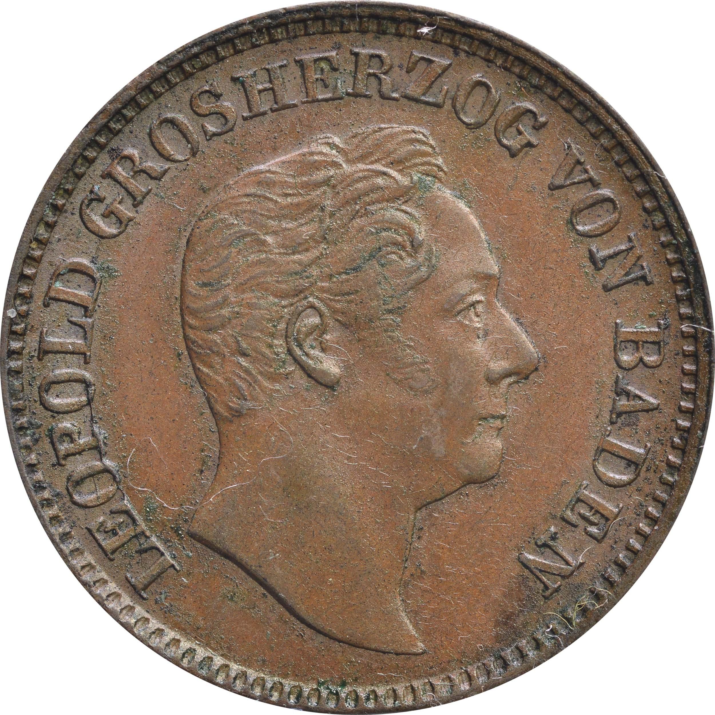 Vorderseite :Deutschland :  Gedenkkreuzer Standbild  1844 vz.