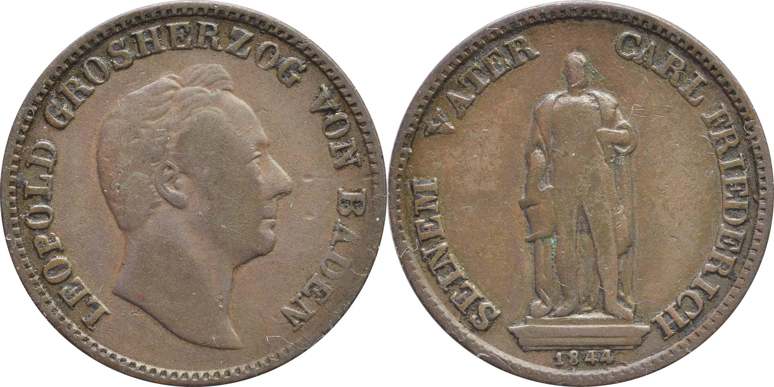 Deutschland :  Gedenkkreuzer Standbild  1844 ss.
