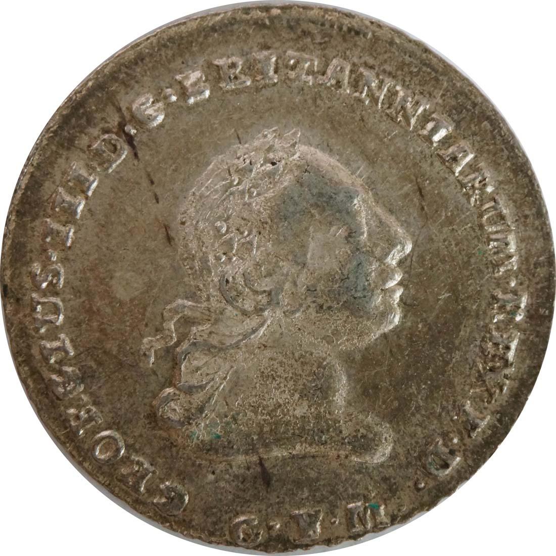 Vorderseite:Deutschland : 1/6 Taler Georg III  1804 Stgl.