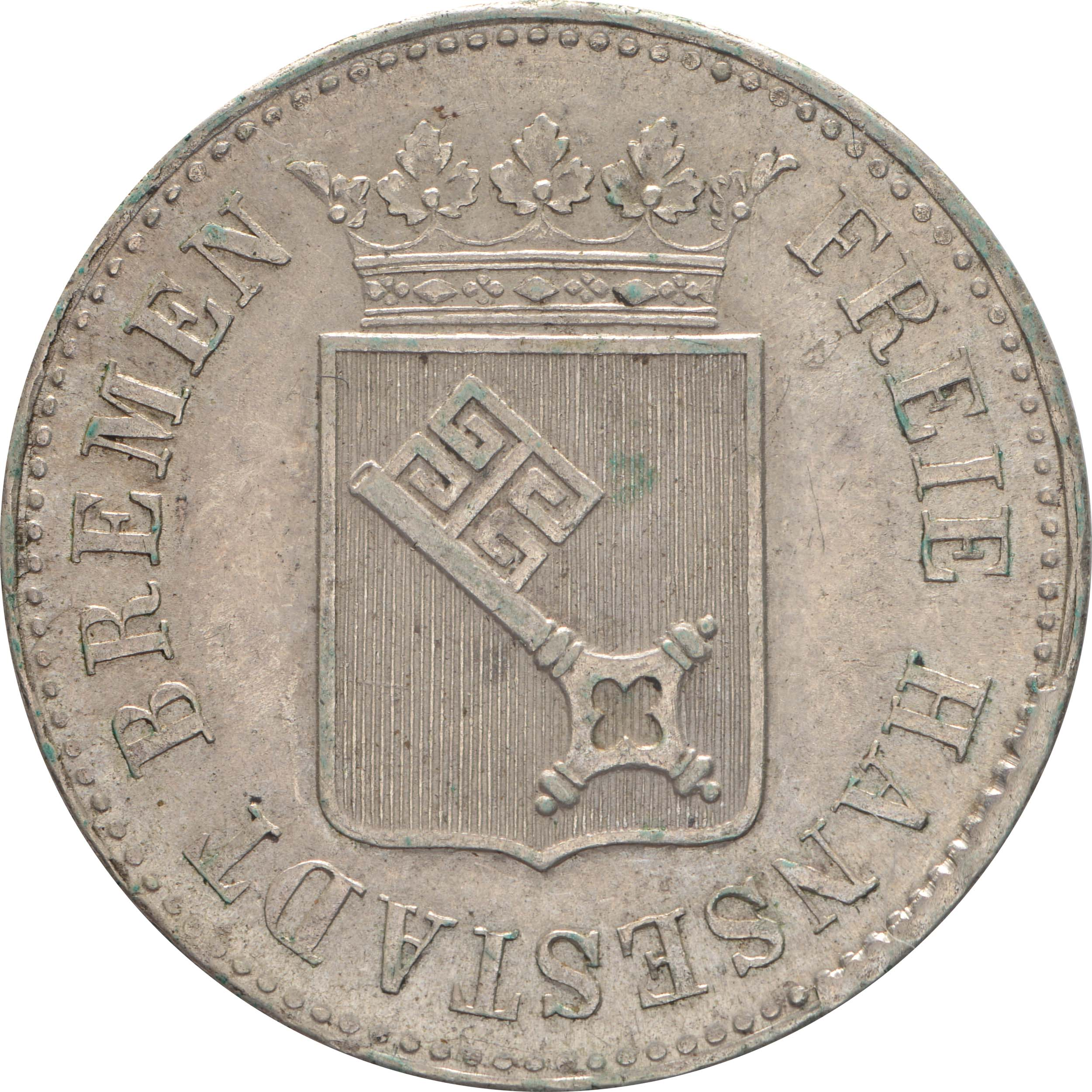 Rückseite:Deutschland : 12 Grote   1845 vz.