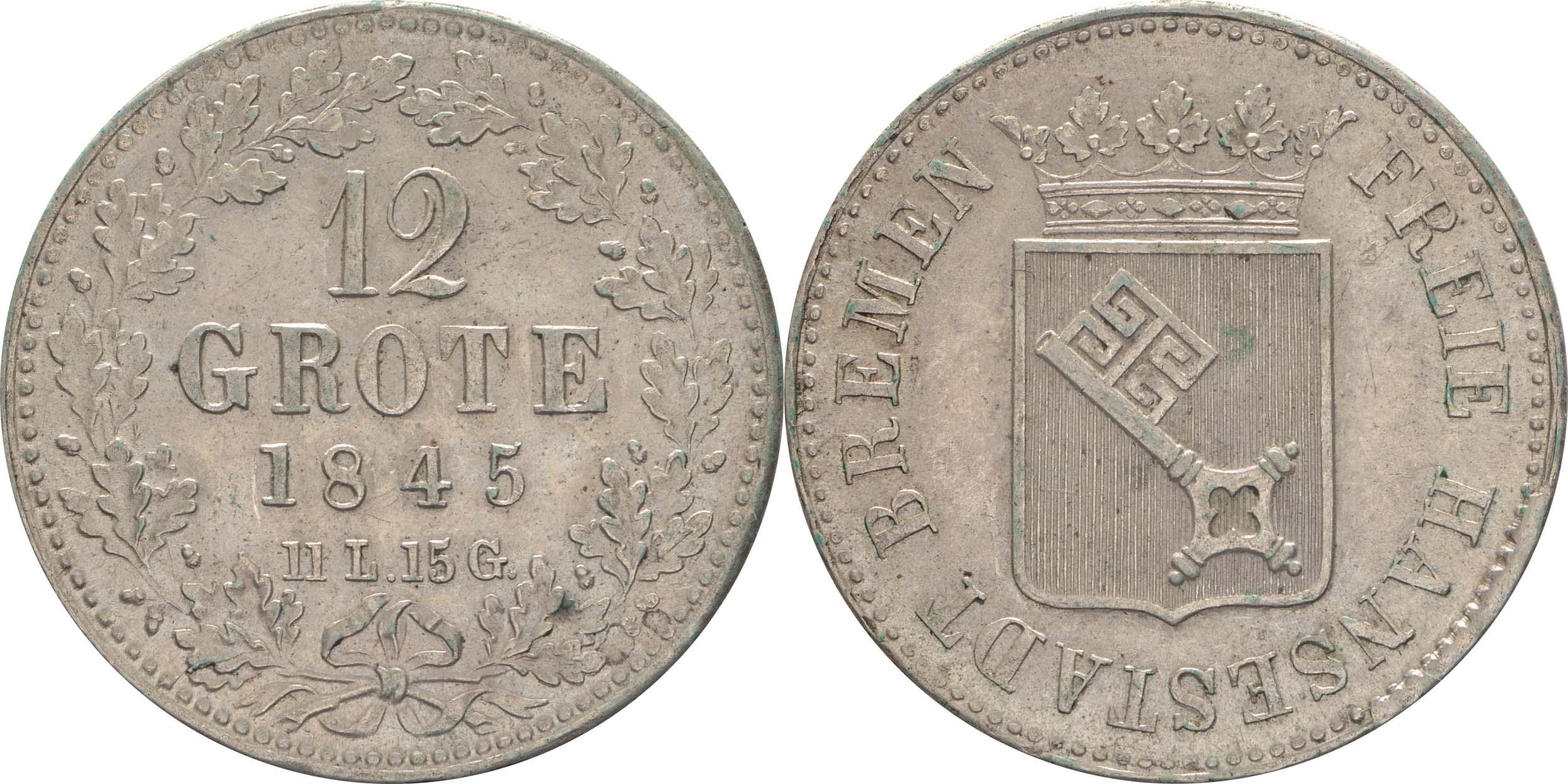 Deutschland : 12 Grote   1845 vz.