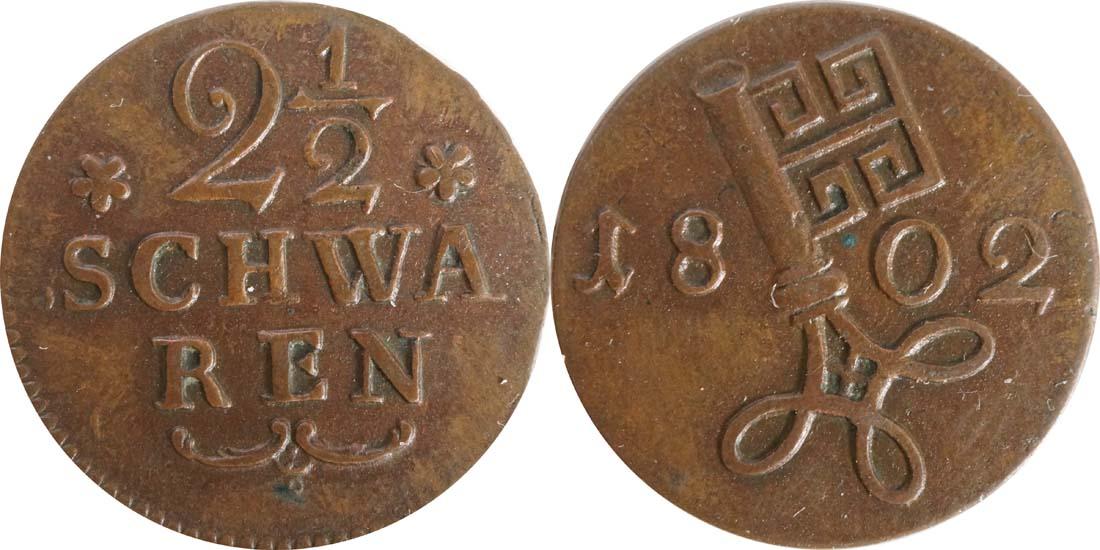 Deutschland : 2 1/2 Schwaren   1802 vz.