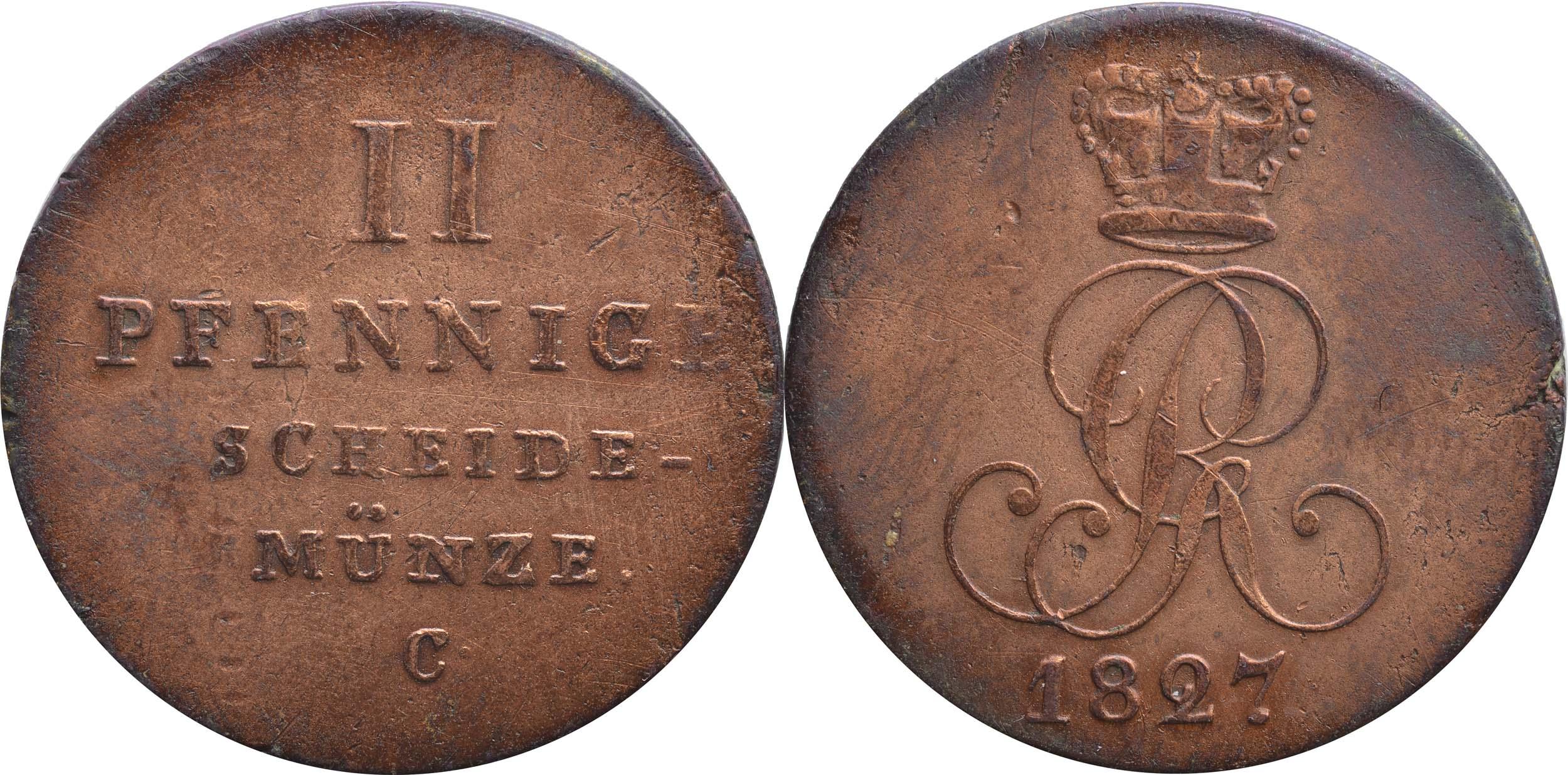 Übersicht:Deutschland : 2 Pfennig   1827 ss.