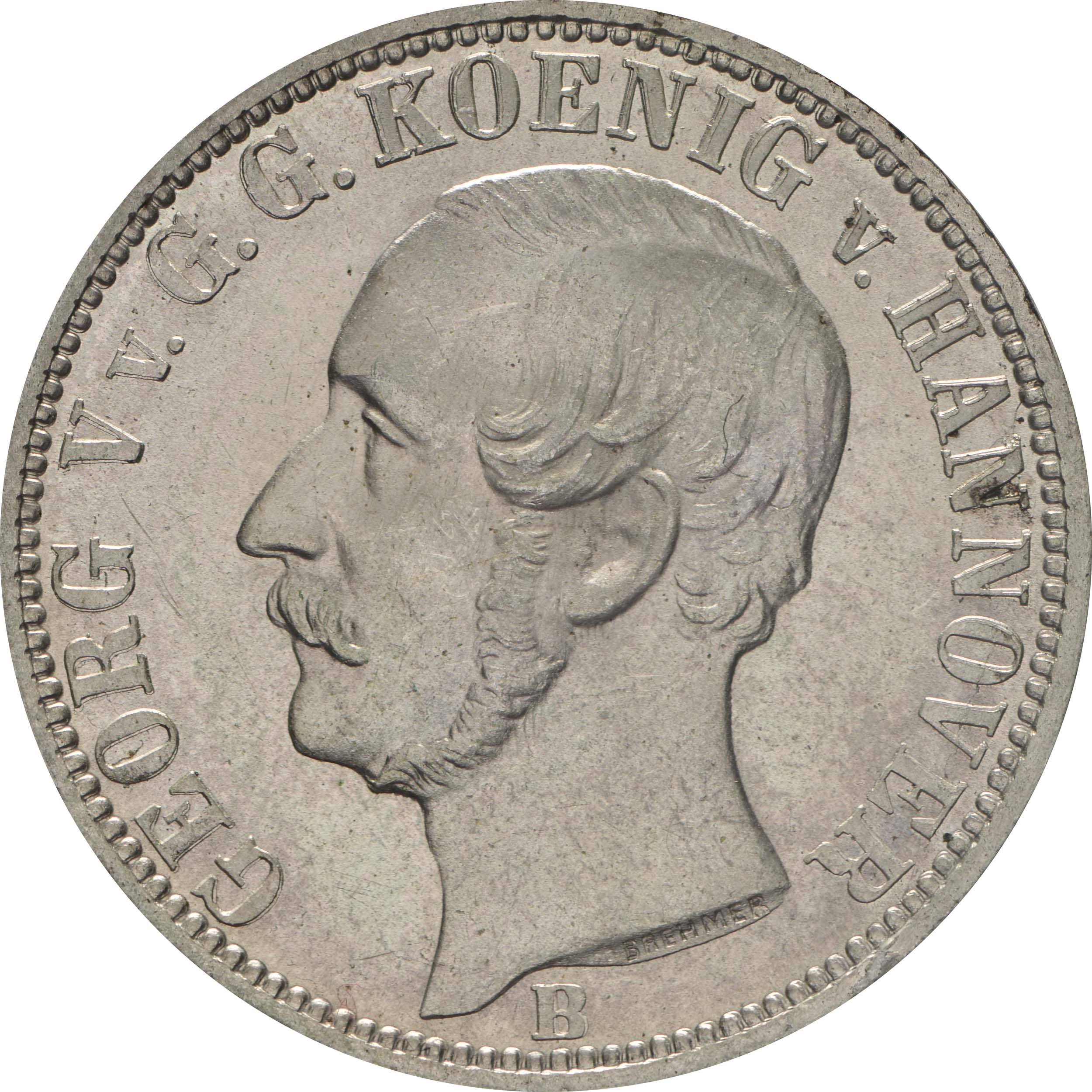 Vorderseite :Deutschland : 1/6 Taler   1860 Stgl.