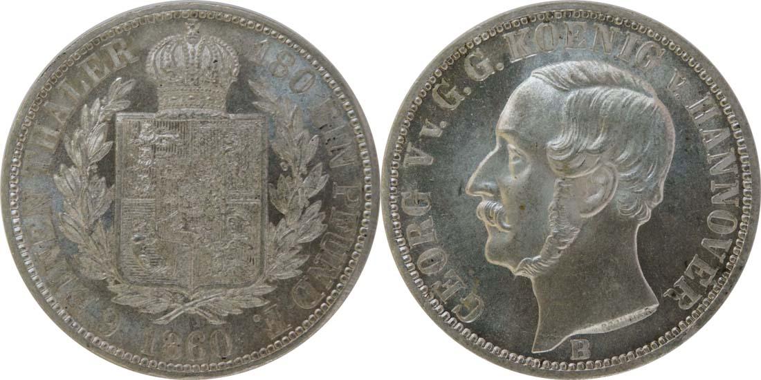 Deutschland : 1/6 Taler   1860 Stgl.