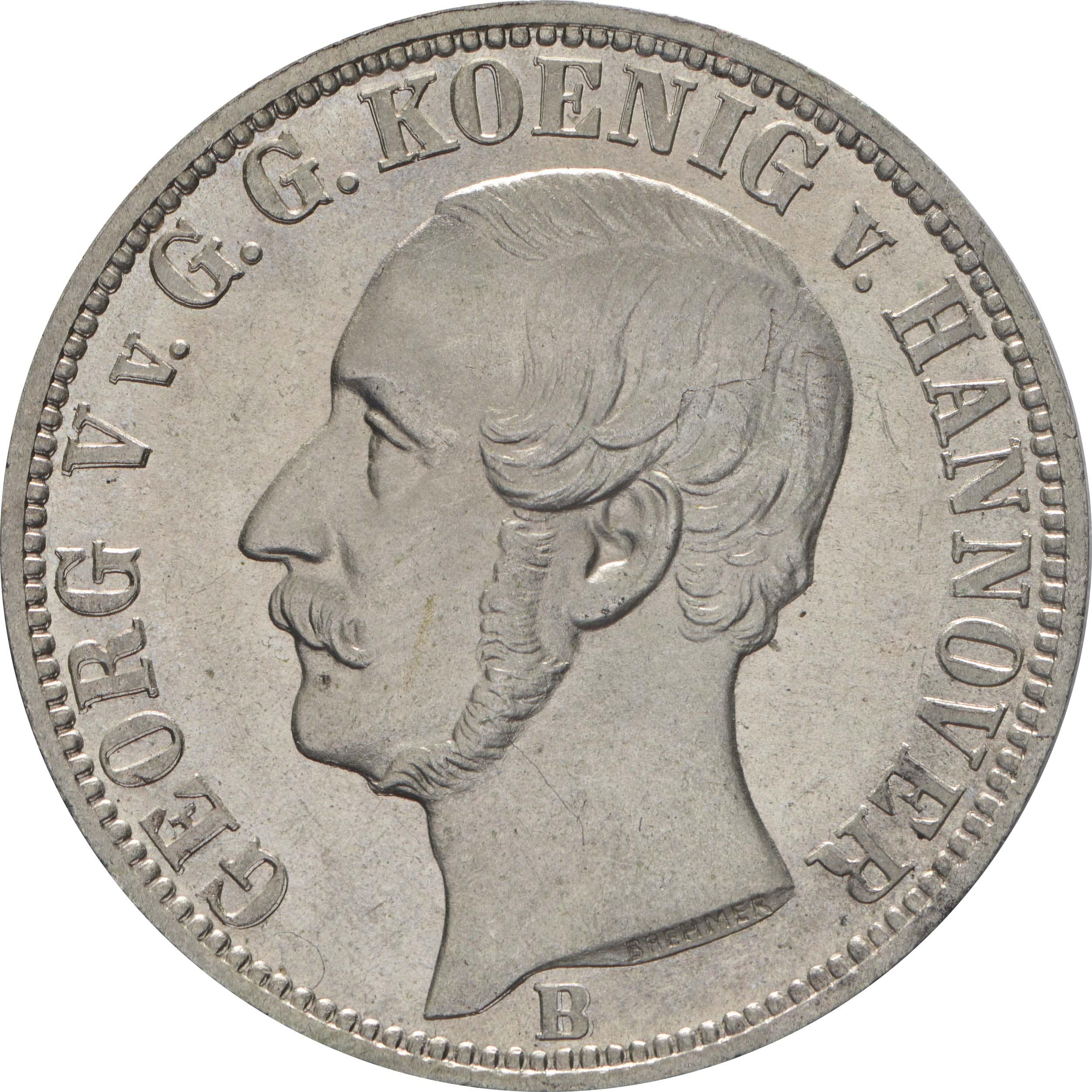 Vorderseite:Deutschland : 1/6 Taler   1860 vz/Stgl.