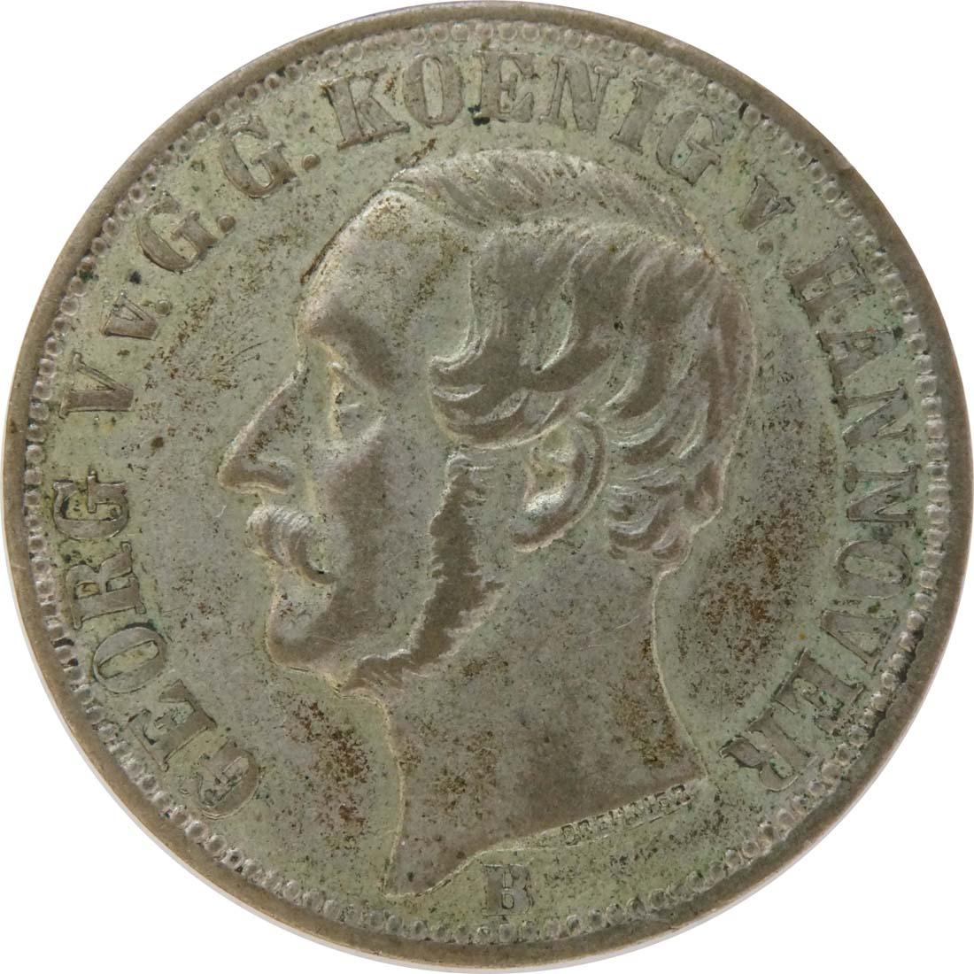 Vorderseite:Deutschland : 1/6 Taler  patina 1860 vz.