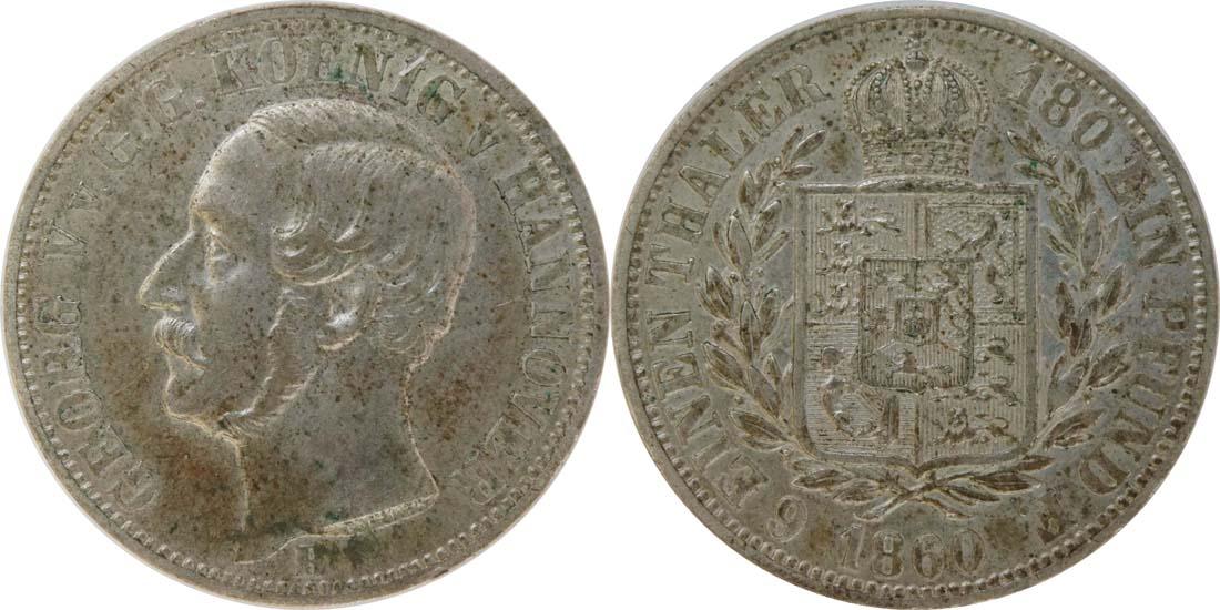 Deutschland : 1/6 Taler  patina 1860 vz.