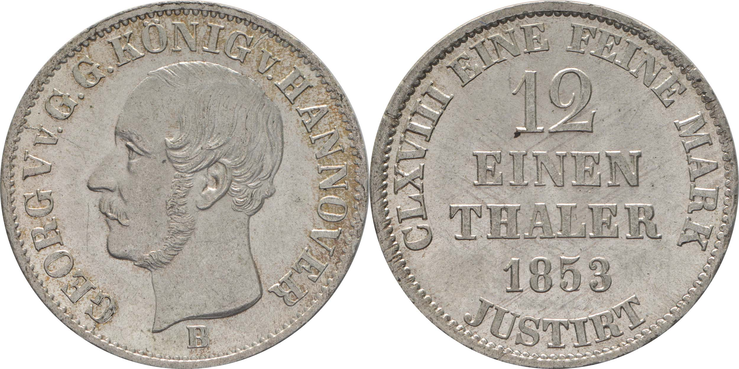 Lieferumfang:Deutschland : 1/12 Taler  patina 1853 Stgl.
