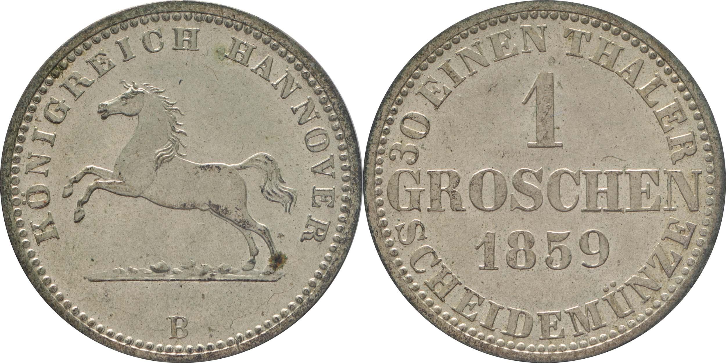 Lieferumfang:Deutschland : 1 Groscchen   1859 Stgl.