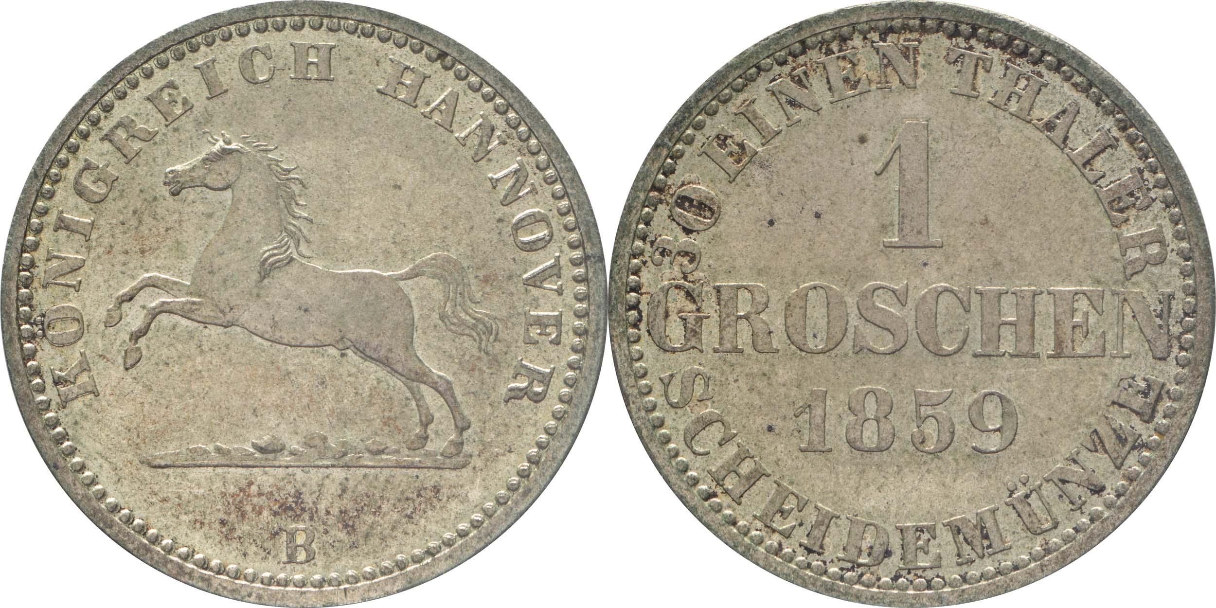 Deutschland : 1 Groschen   1859 vz/Stgl.