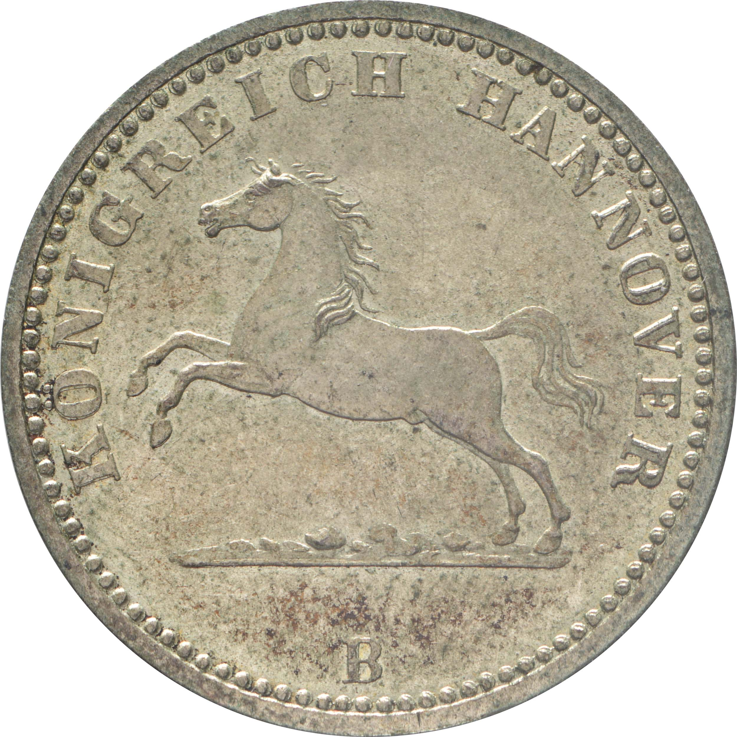 Vorderseite :Deutschland : 1 Groschen   1859 vz/Stgl.