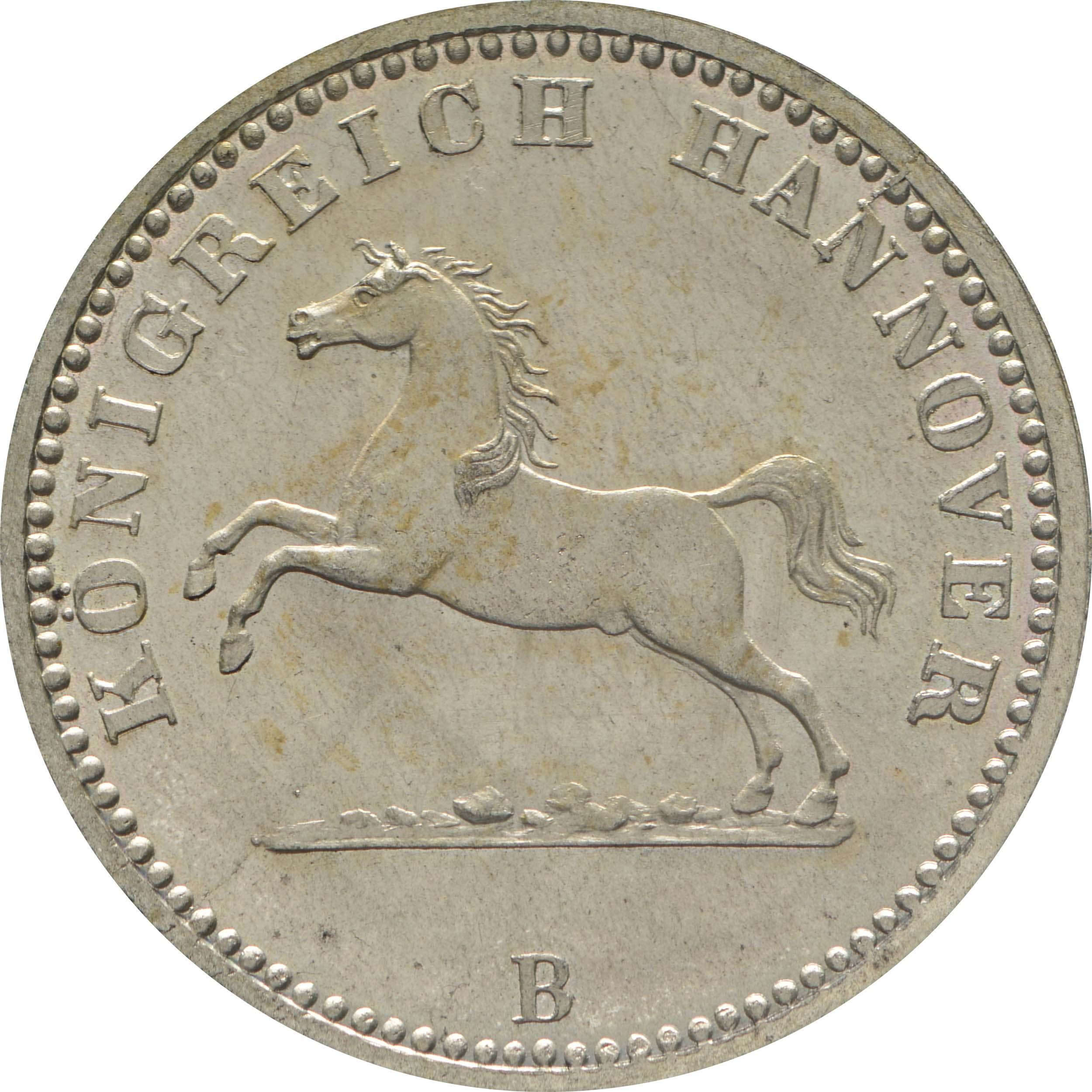 Vorderseite:Deutschland : 1 Groschen  -fein-, !Erhaltung! 1864 Stgl.