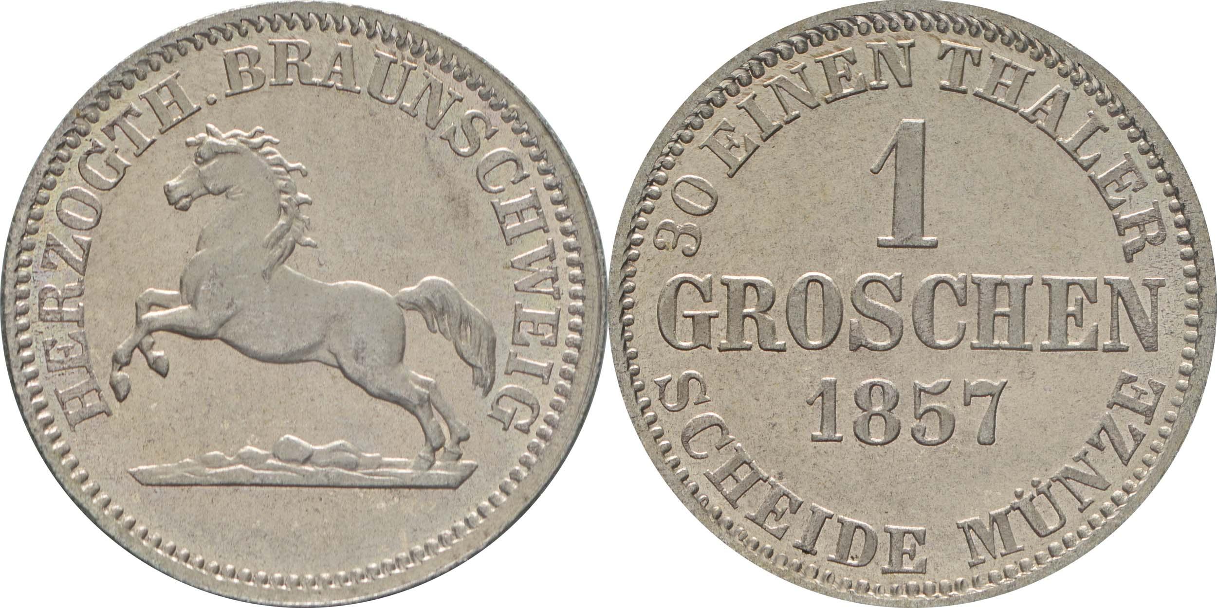 Lieferumfang:Deutschland : 1 Groschen  winz. Kratzer 1857 Stgl.