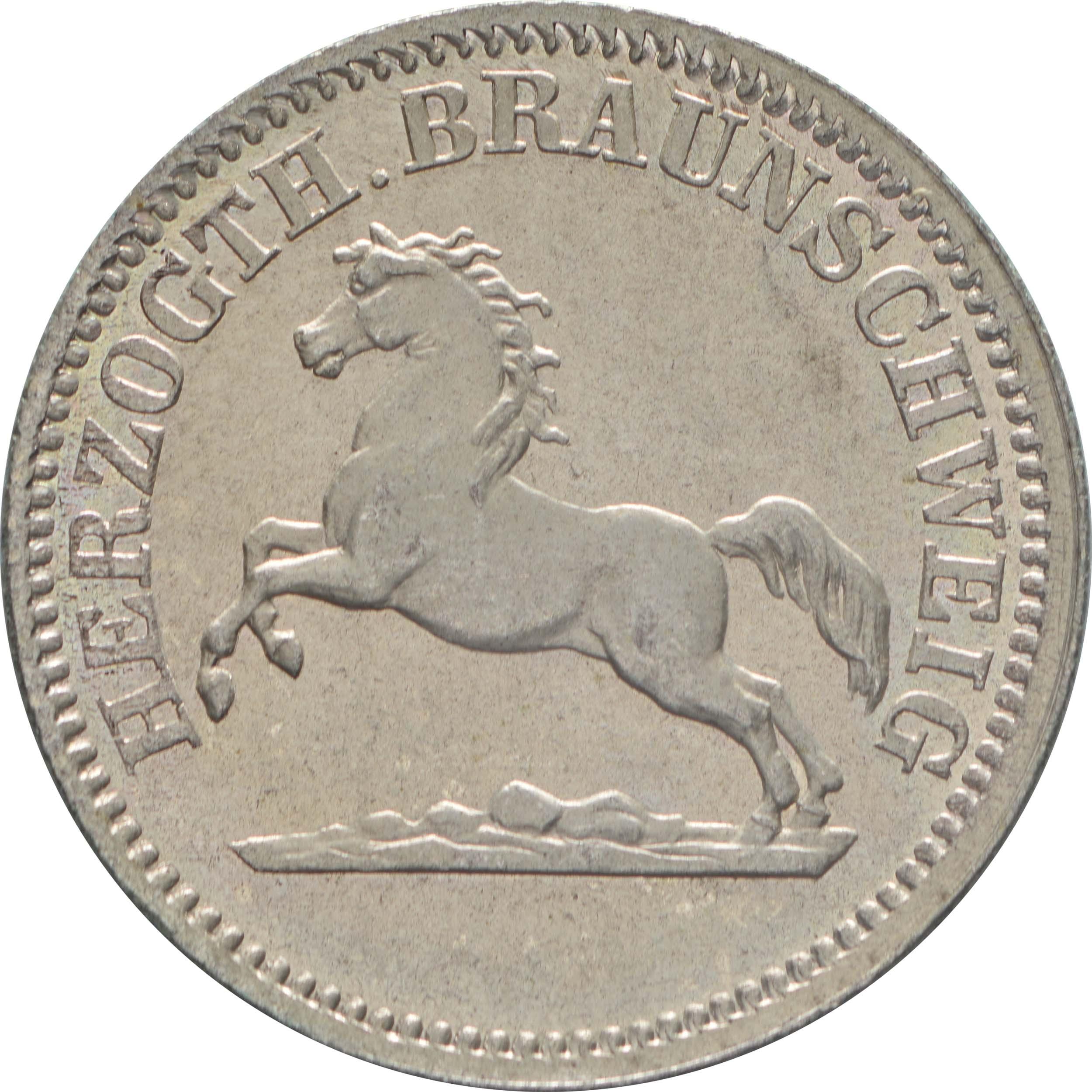 Vorderseite:Deutschland : 1 Groschen  winz. Kratzer 1857 Stgl.