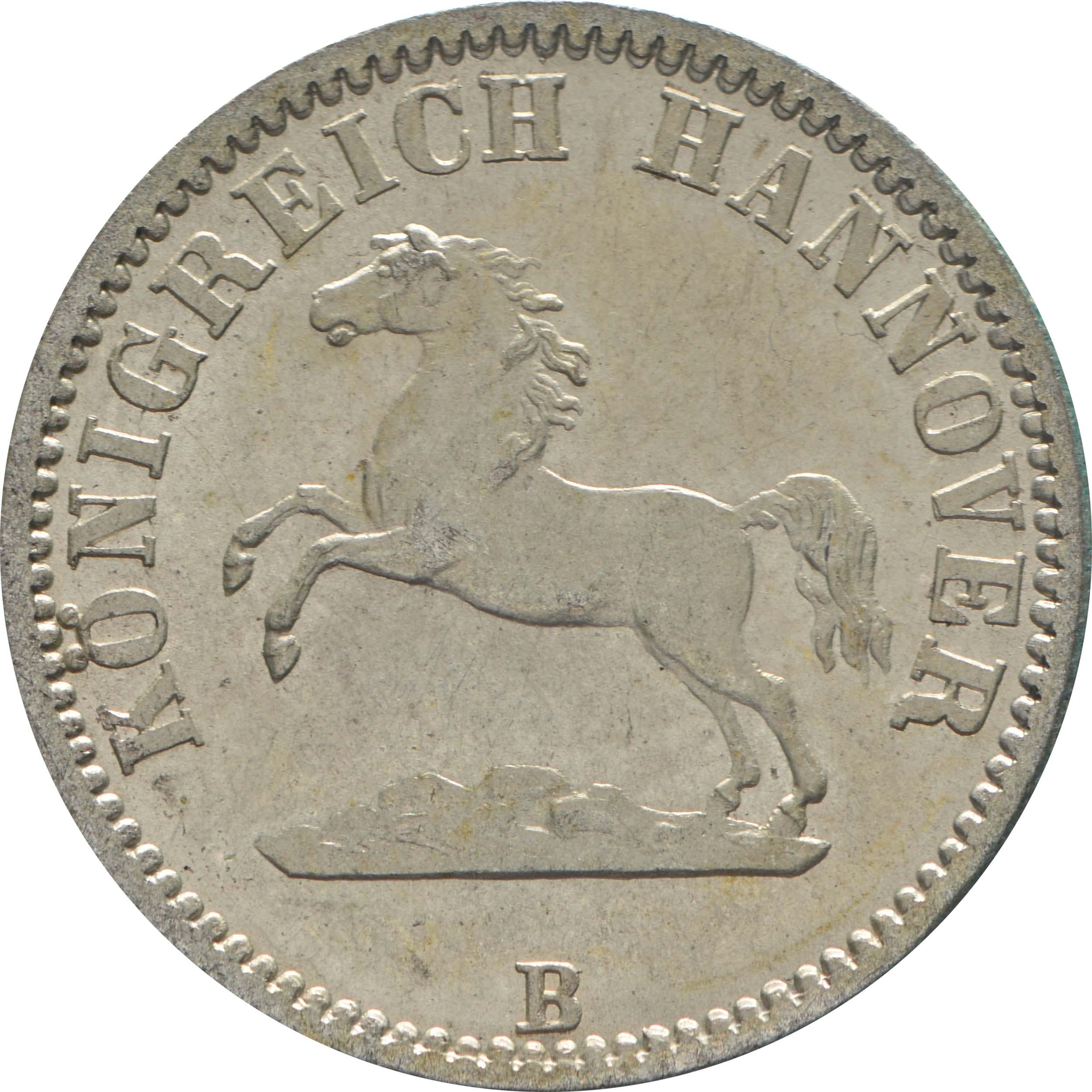Vorderseite:Deutschland : 1/2 Groschen  !Erhaltung! 1861 vz/Stgl.