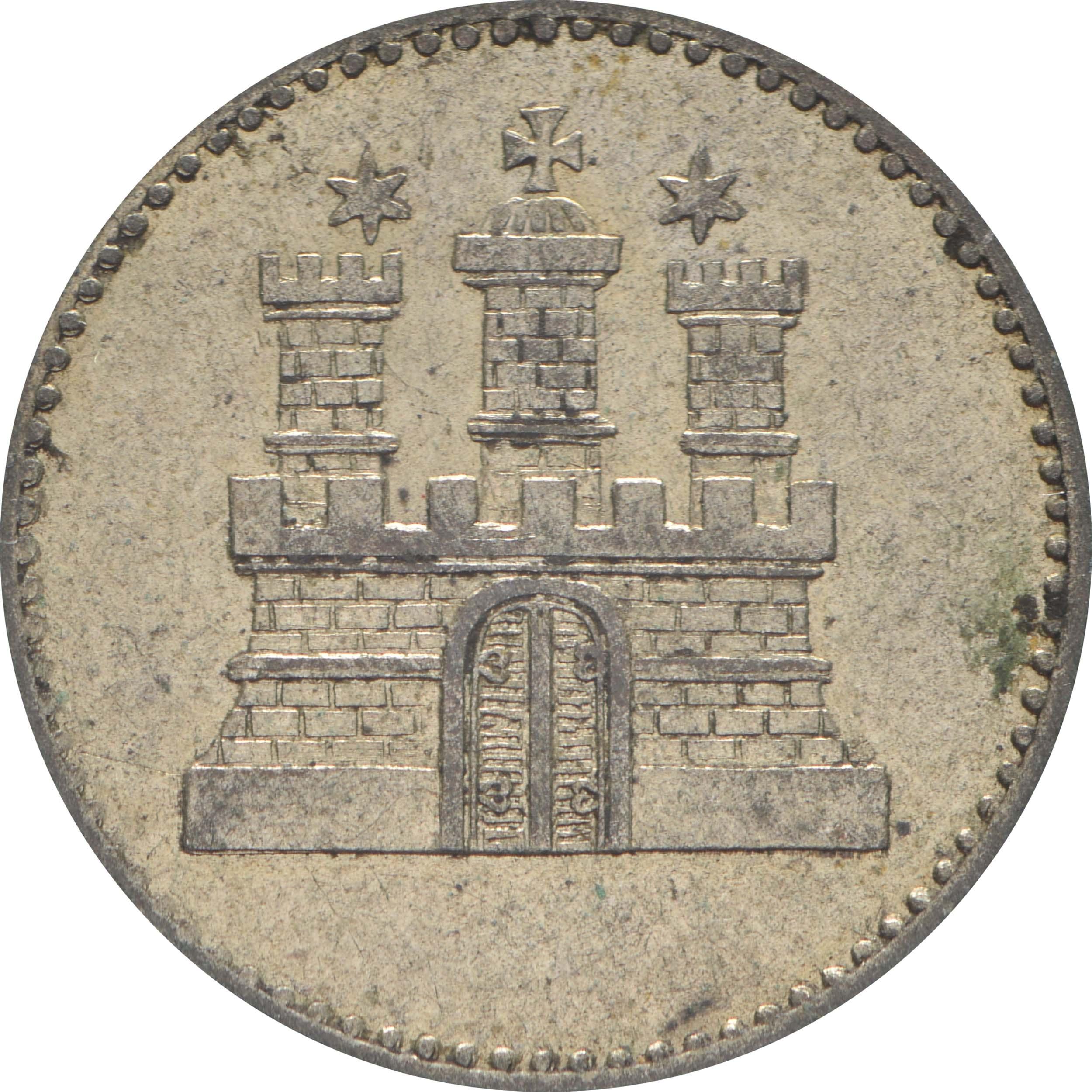 Rückseite:Deutschland : 1 Sechsling   1855 ss/vz.