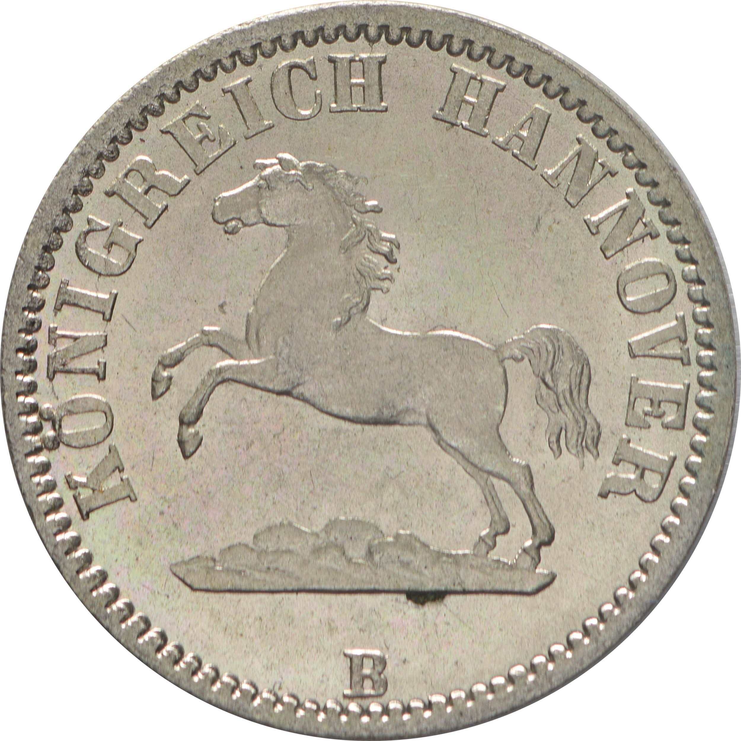 Vorderseite:Deutschland : 1/2 Groschen  winz. Kratzer 1861 Stgl.