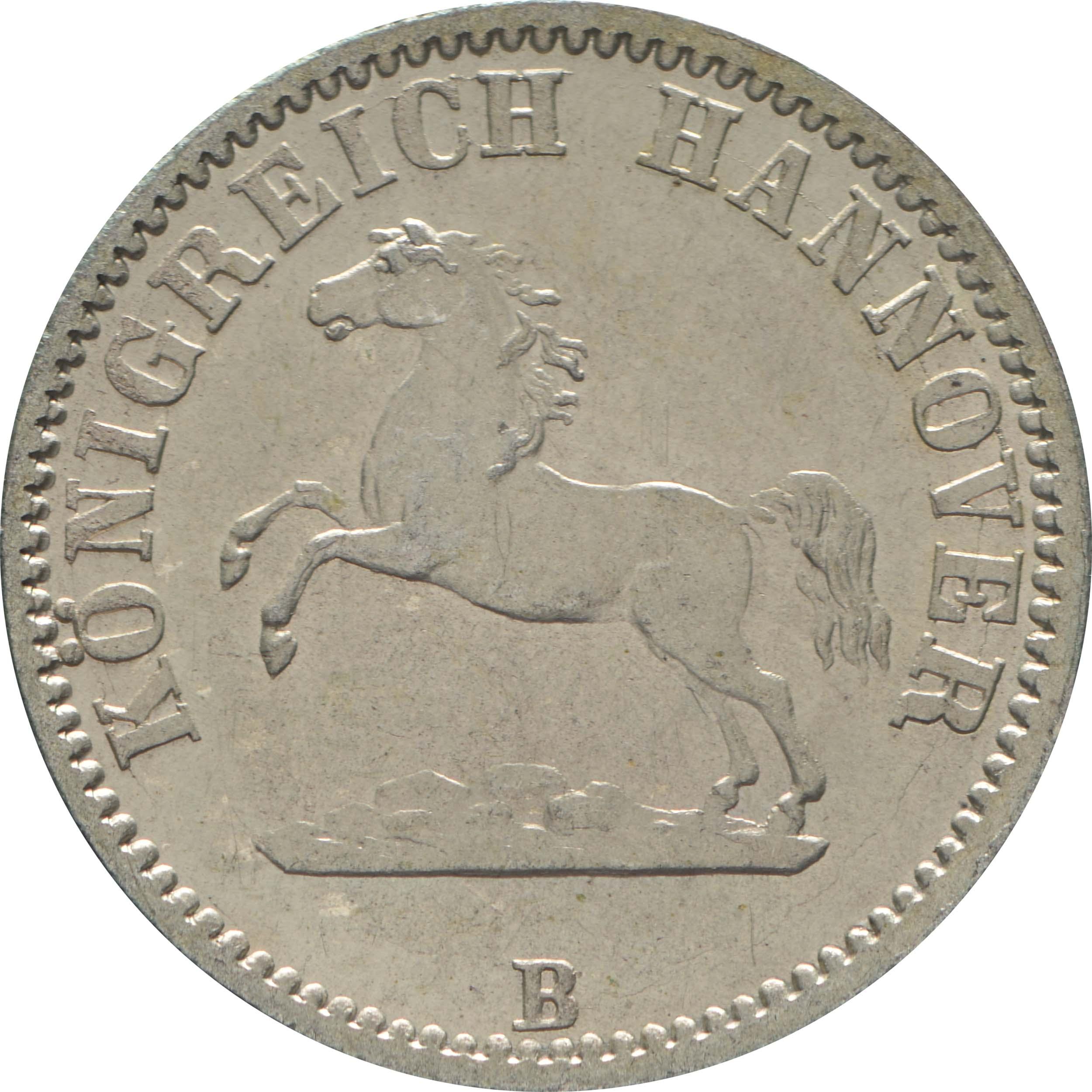 Vorderseite :Deutschland : 1/2 Groschen  -fein- 1862 Stgl.