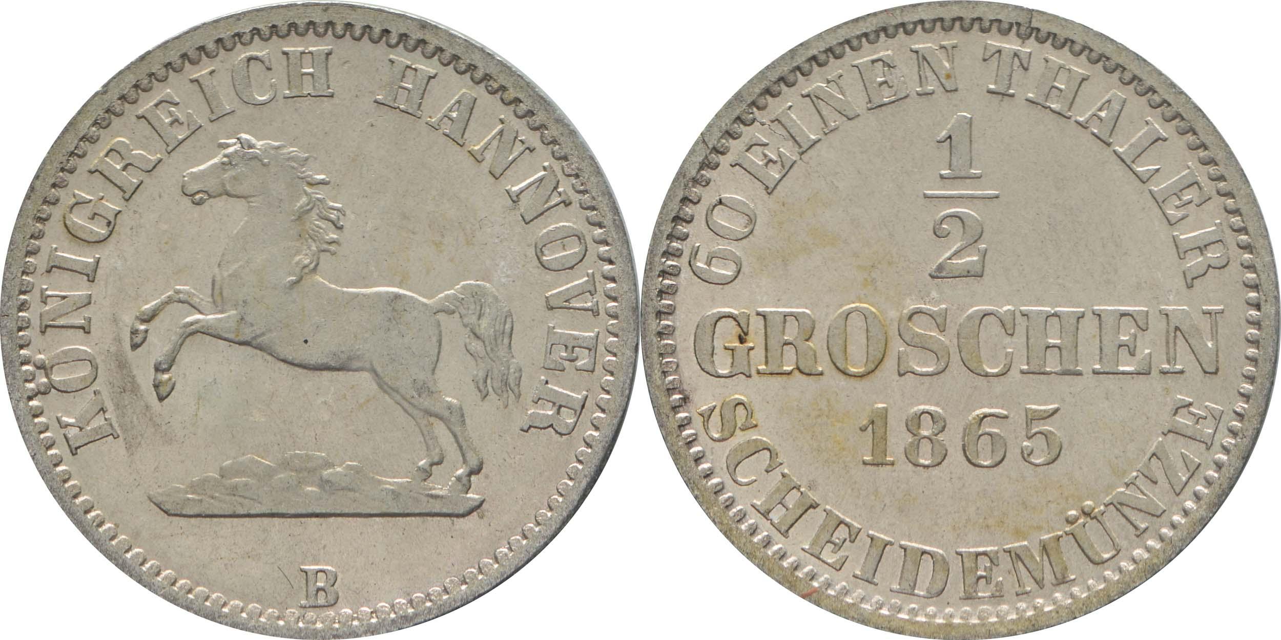 Deutschland : 1/2 Groschen   1865 Stgl.