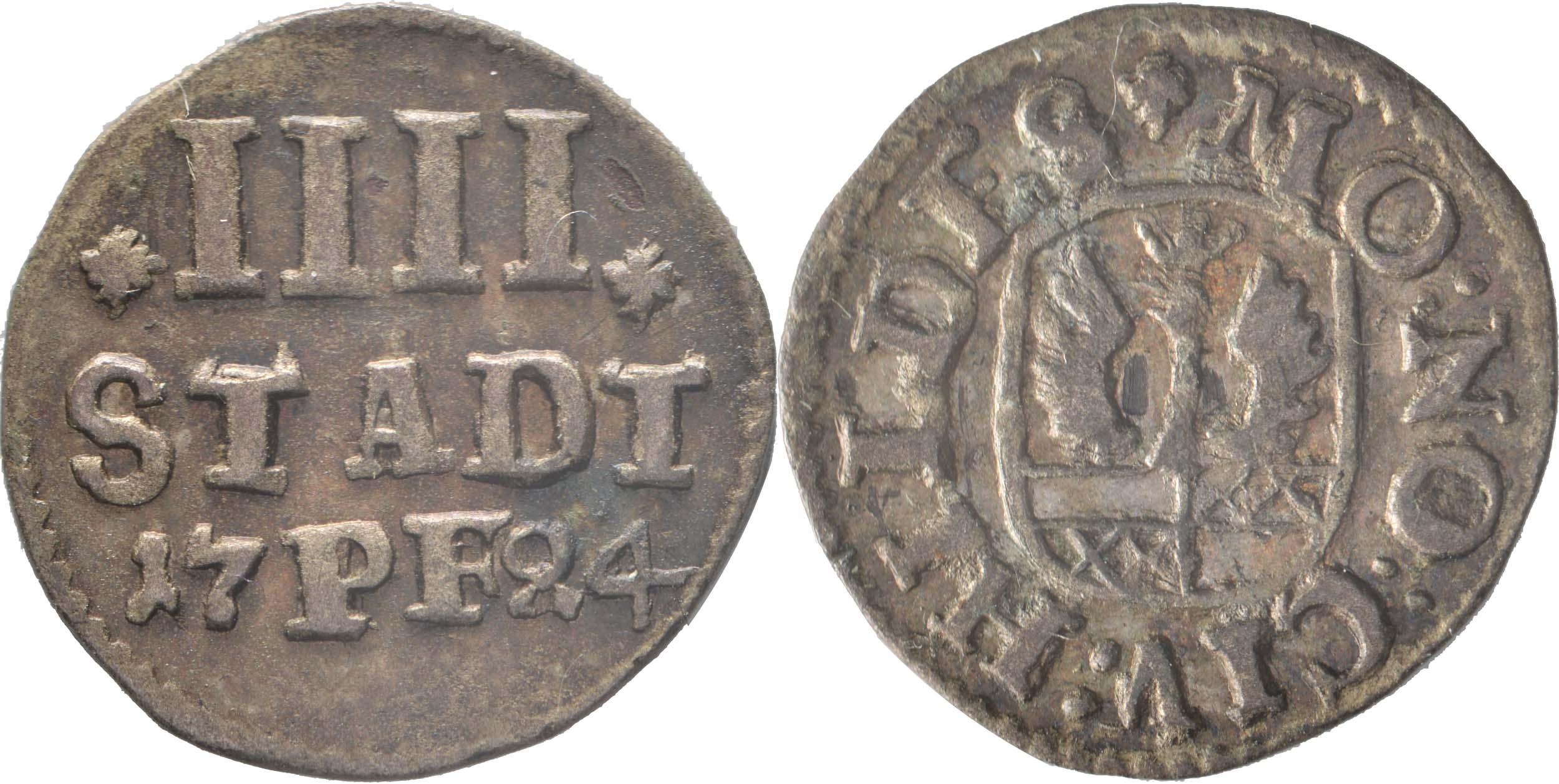 Lieferumfang:Deutschland : 4 Pfennig   1724 vz.